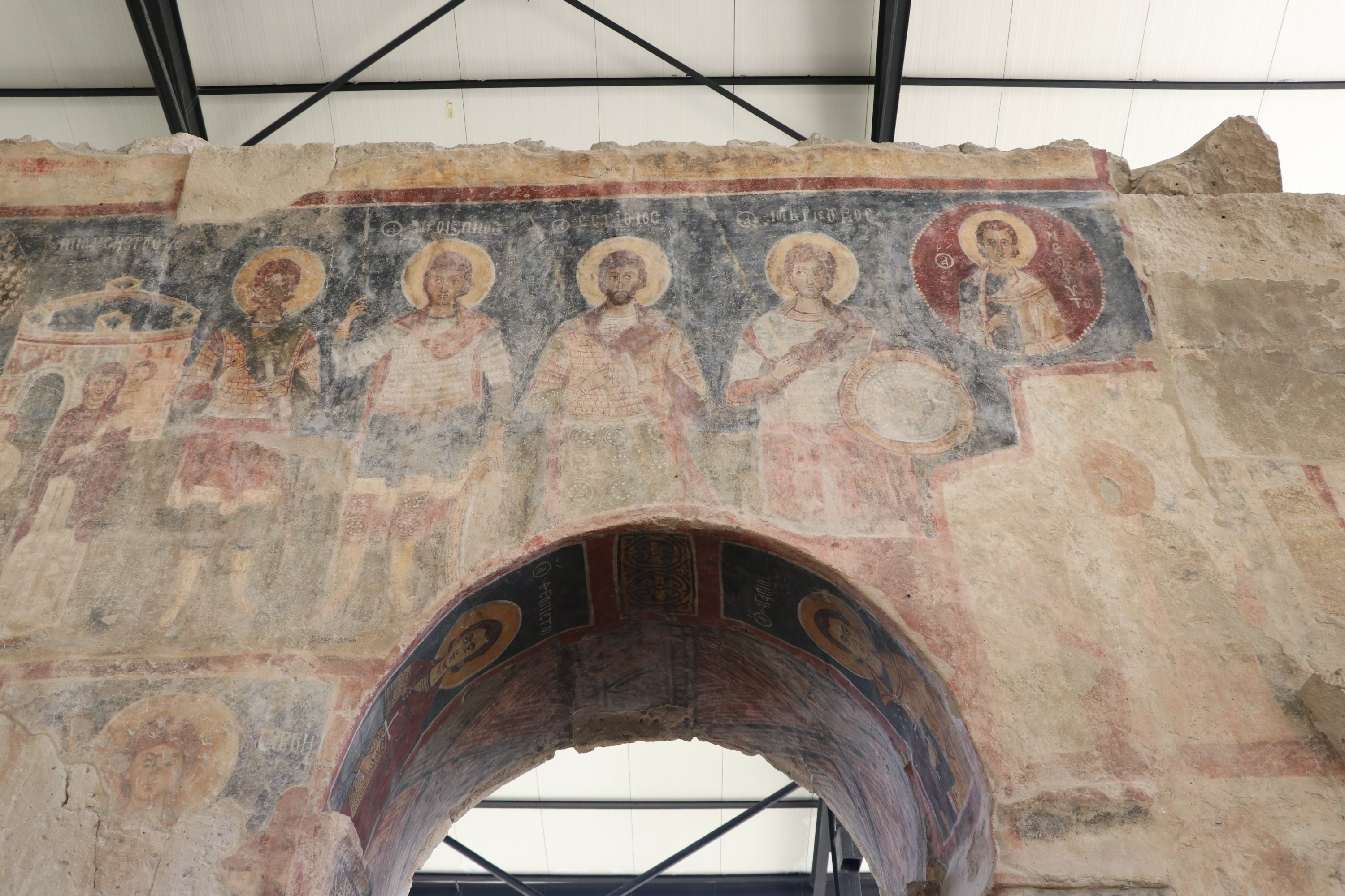 The Andaval archaeological site features murals depicting the life of Jesus on its walls. (AA PHOTO)