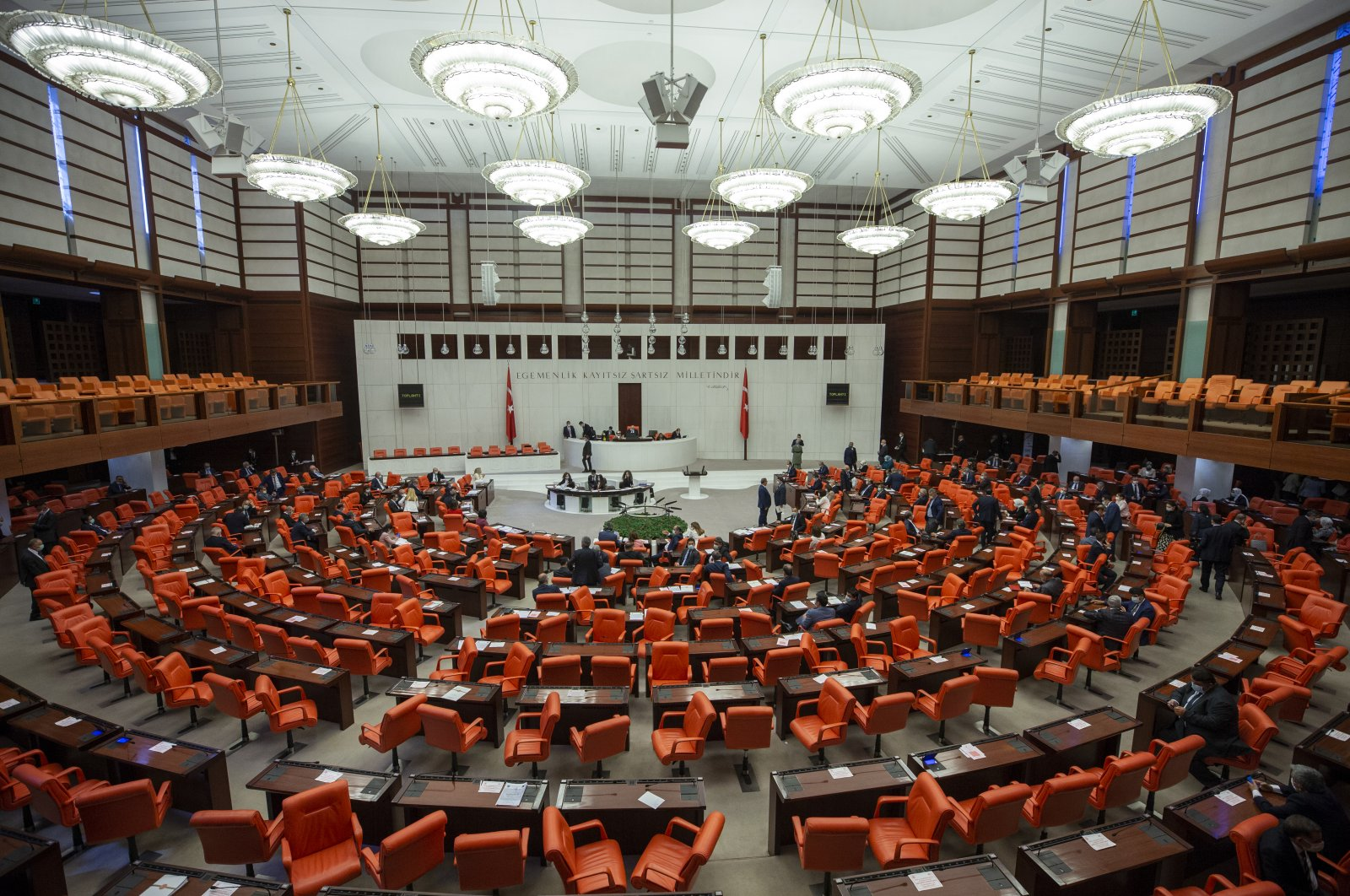 The Turkish Grand National Assembly (TBMM) gathered on June 24, 2020 (AA Photo)