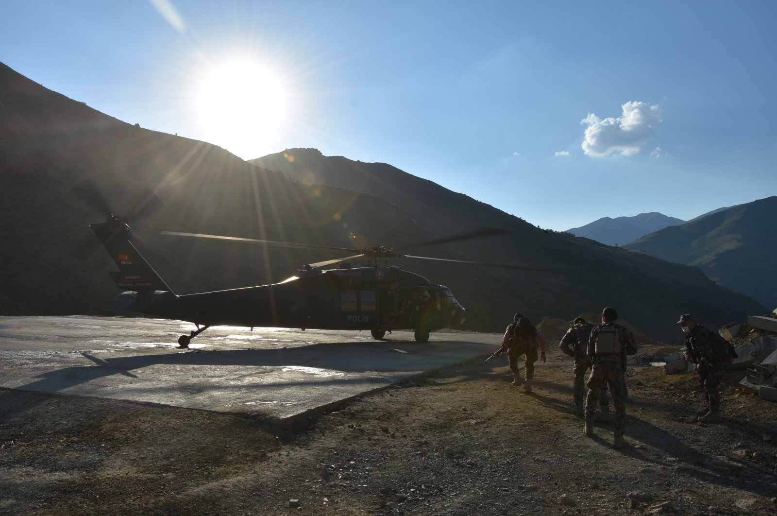 The Turkish Armed Forces ensure the security of borders in southeastern Hakkari province, Turkey, June 24, 2020 (AA Photo)