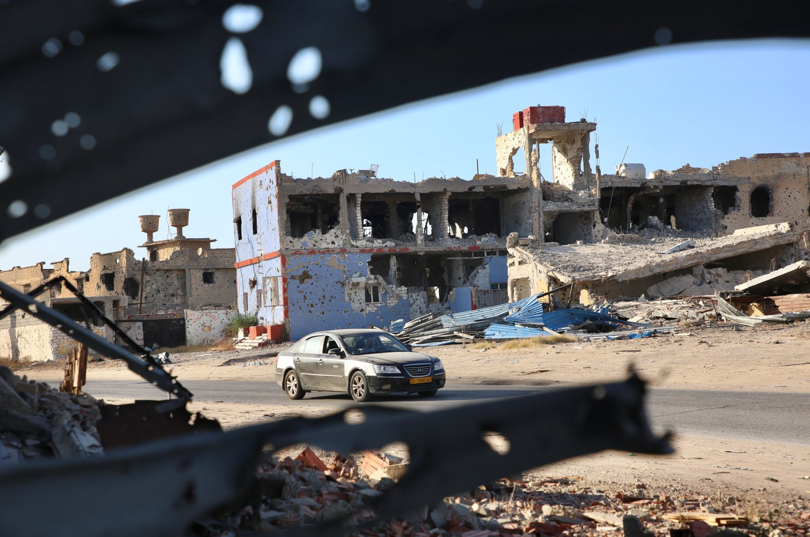 Although the capital province of Tripoli has been liberated from Haftar forces and its backers on June 4, the city still carries the damages left by the constant attacks, June 27, 2020. (AA)
