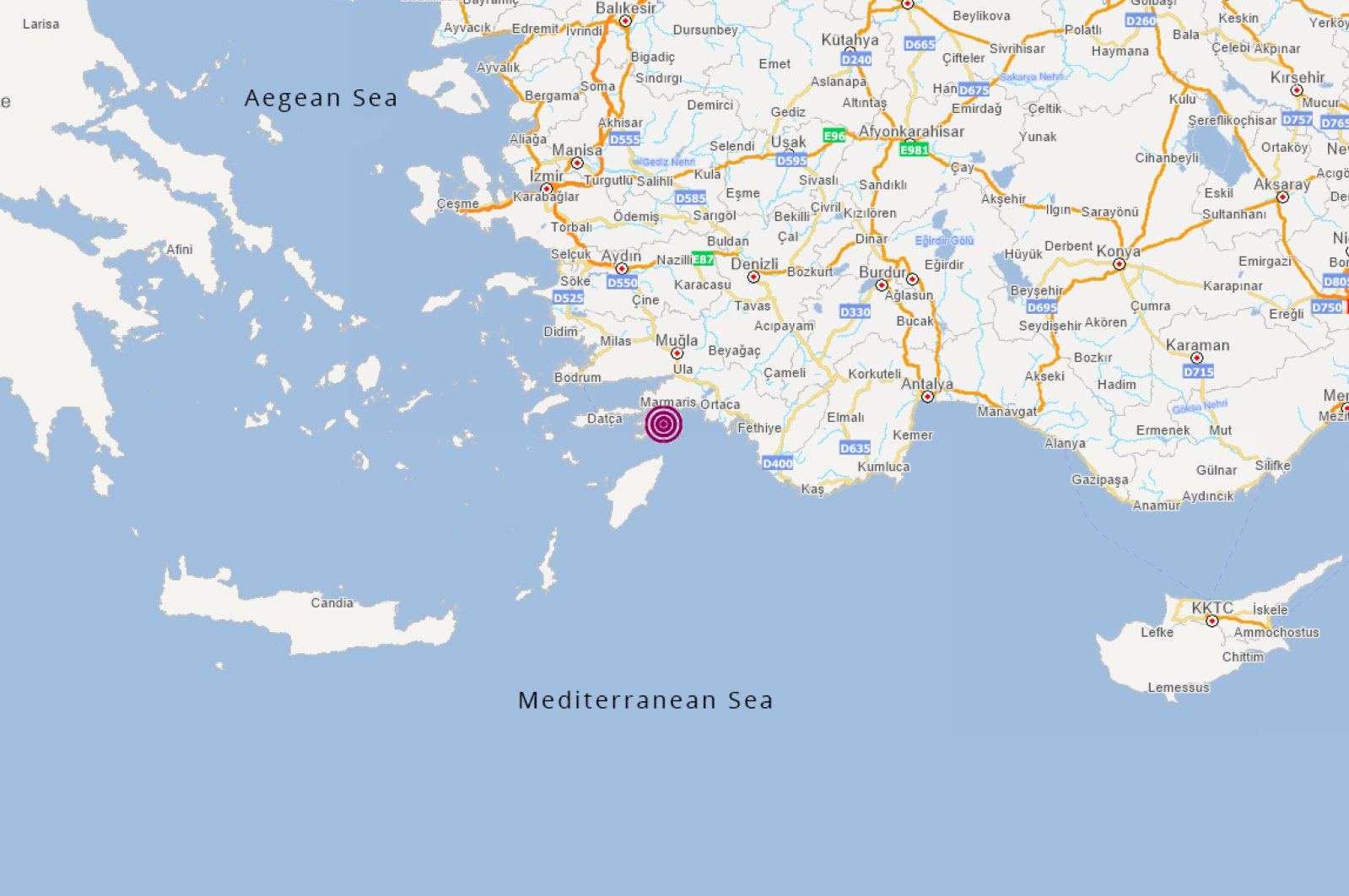 Map courtesy of AFAD
