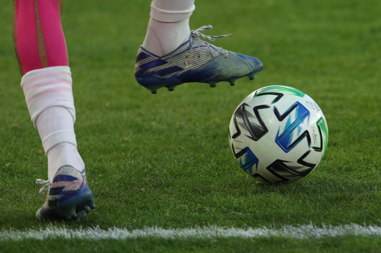 A view of a MLS soccer ball at Audi Field in Washington, D.C., U.S., March 7, 2020. (AFP Photo)