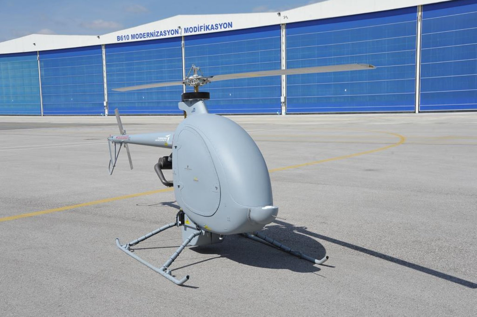 A cargo drone developed in a joint project between Turkey's Defense Industries Presidency (SSB) and Turkish Aerospace Industries (TAI), June 29, 2020. (SSB / AA)