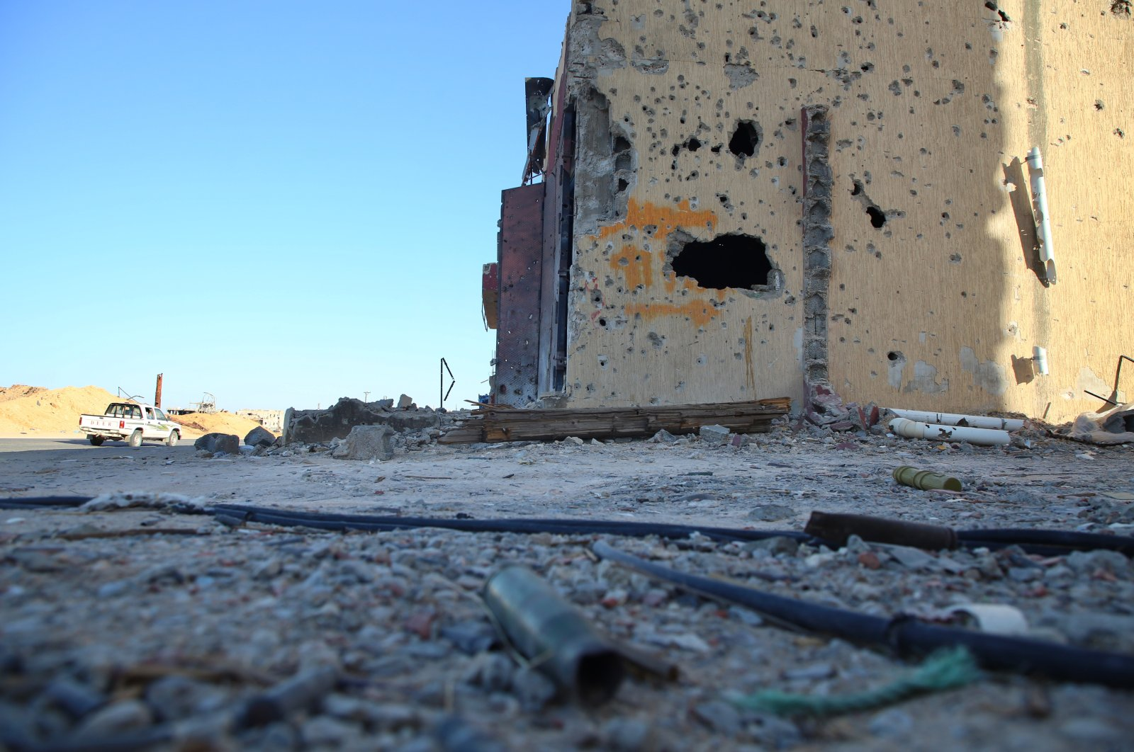 This photo shows the destruction caused by militias loyal to putschist Gen. Khalifa Haftar in the civilian settlements south of Tripoli after the warlord's retreat, Libya, June 27, 2020. (AA Photo)