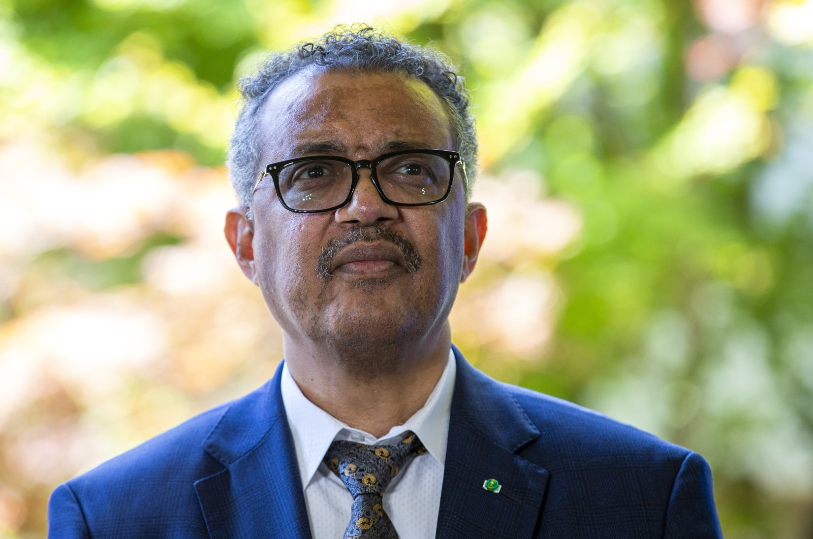 Tedros Adhanom Ghebreyesus, Director General of the World Health Organization (WHO), attends a press conference, at the WHO headquarters in Geneva, Switzerland, Thursday, June 25, 2020. (AP Photo)