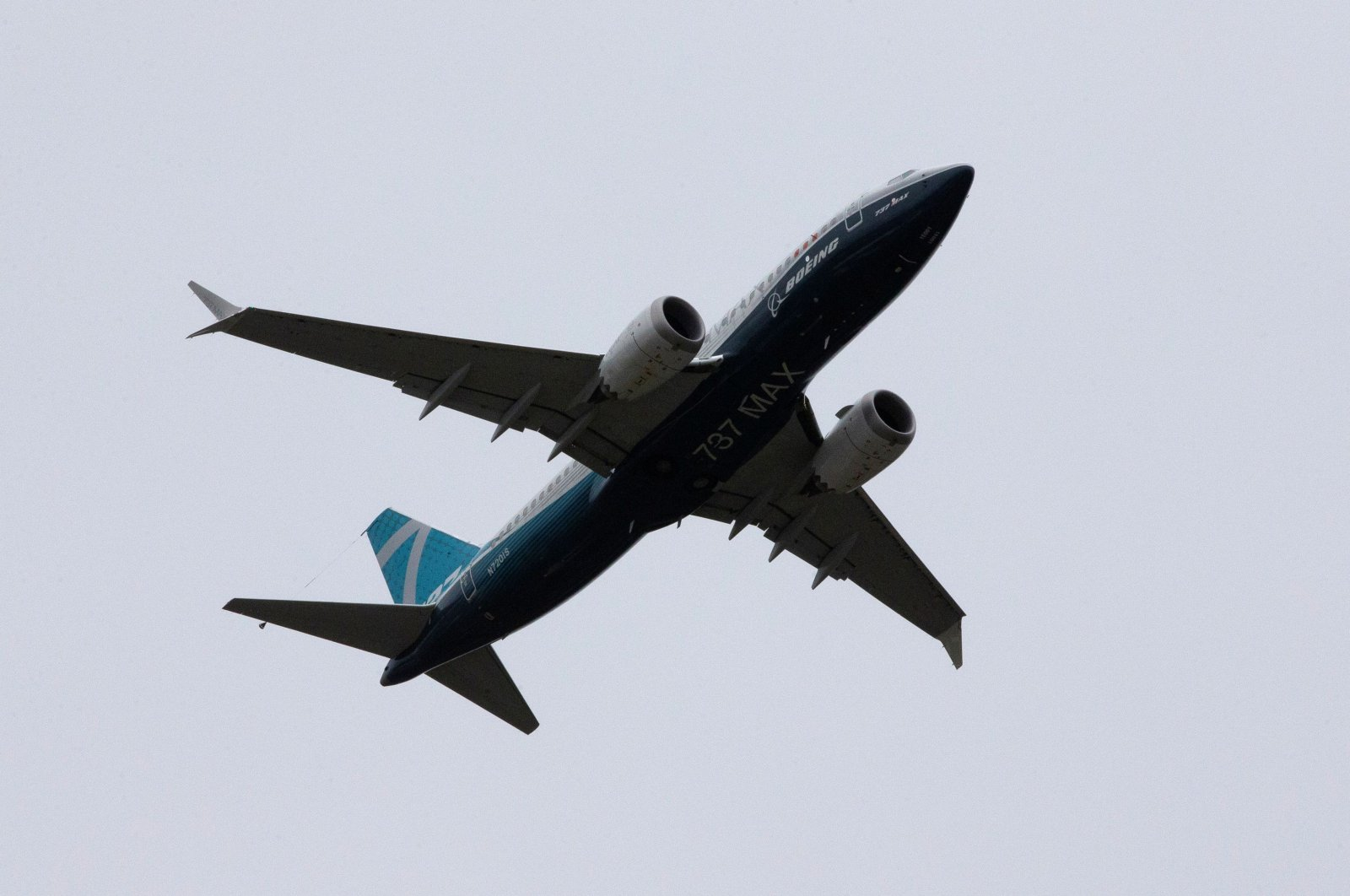 A Boeing 737 MAX airplane takes off on a test flight from Boeing Field in Seattle, Washington, U.S. June 29, 2020. (Reuters Photo)