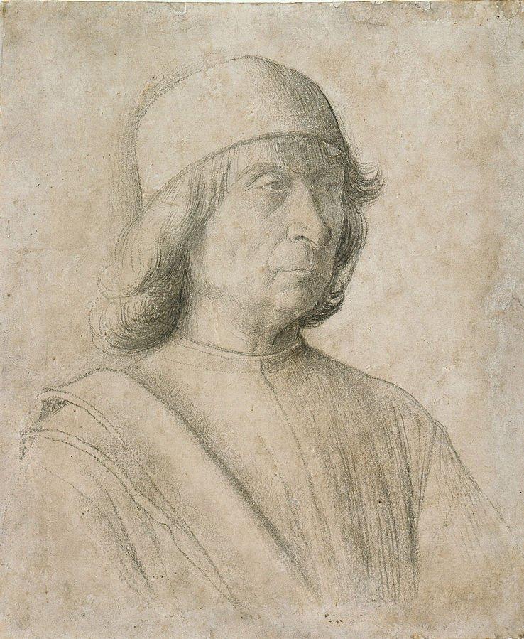 Bellini's self portrait dated 1496
