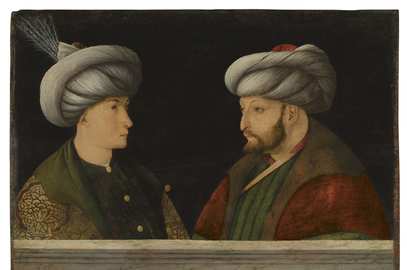 The painting purchased by the Istanbul Metropolitan Municipality. (DHA PHOTO)