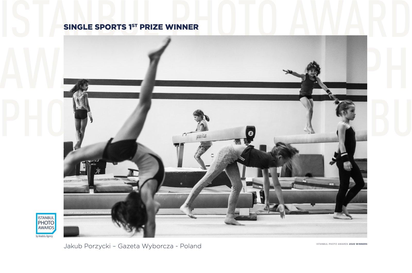 "Jakub Porzycki was awarded first prize in the Single Sports category for his photo titled ""Gymnastics."" (AA Photo)"