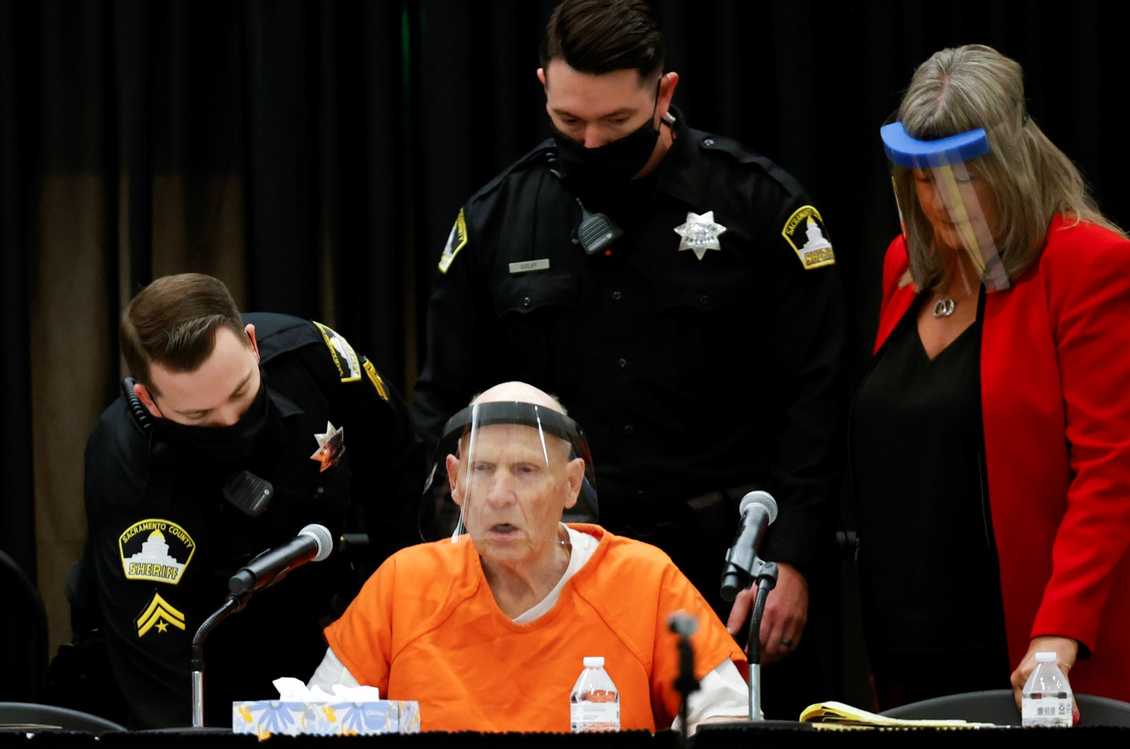 """Former police officer Joseph James DeAngelo Jr. attends a hearing on crimes attributed to the """"Golden State Killer"""" at the Sacramento County courtroom, Sacramento, California, June 29, 2020. (REUTERS Photo)"""