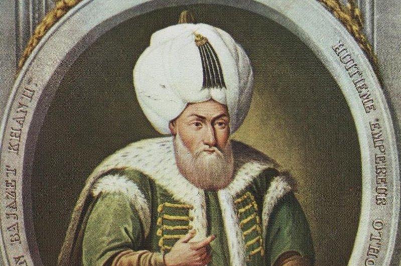 A portrait of Bayezid II by Greek-Ottoman court painter Konstantin Kapıdağlı.