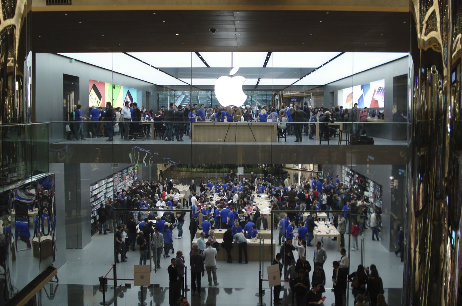The Apple Store at Zorlu Center in Istanbul, Turkey, in this undated photo.