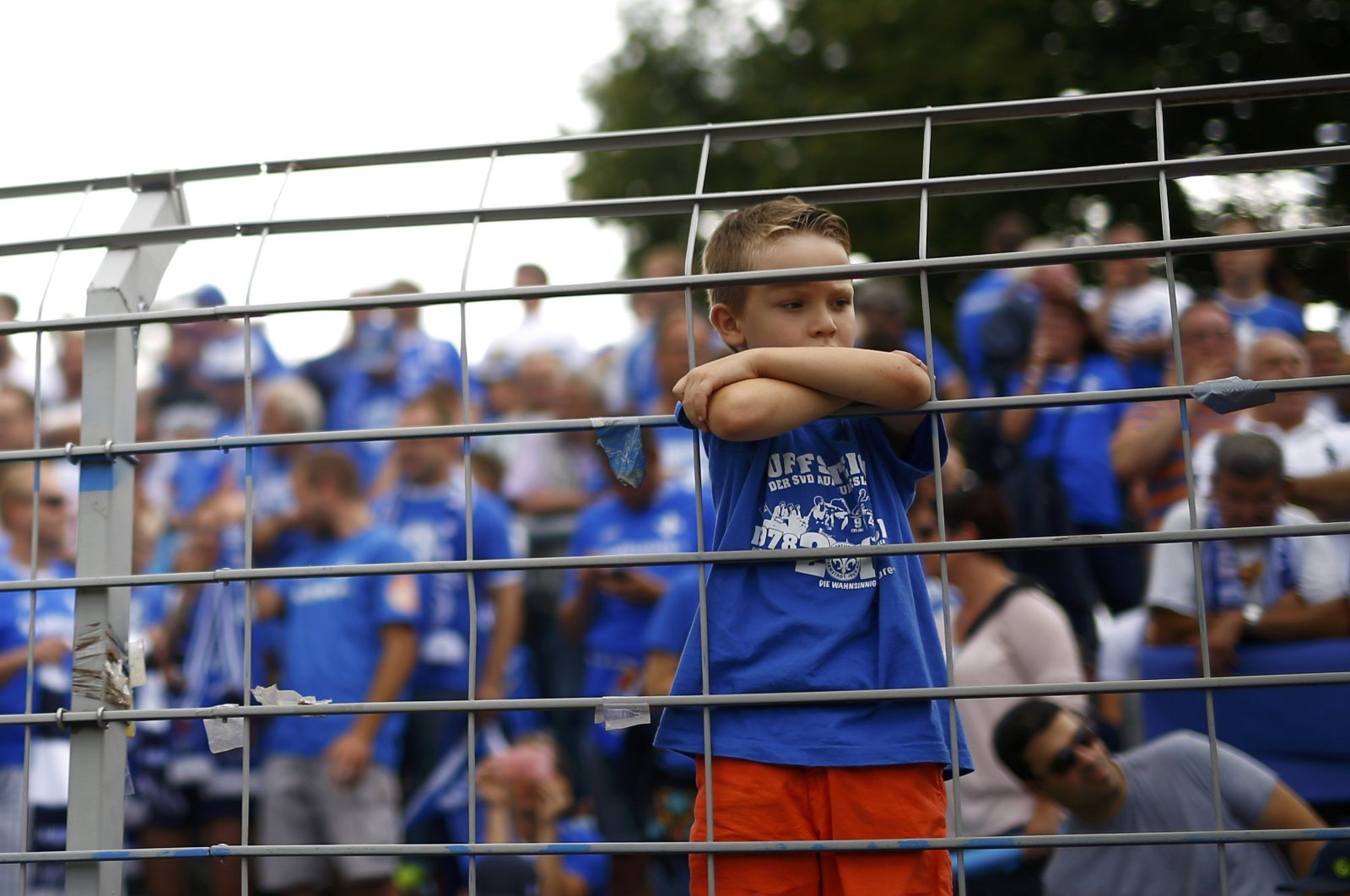 In this Aug. 15, 2015, file photo, a child attends the soccer match between SV Darmstadt 98 and Hanover 96 before their German first division Bundesliga soccer match in Darmstadt, Germany. (Reuters Photo)