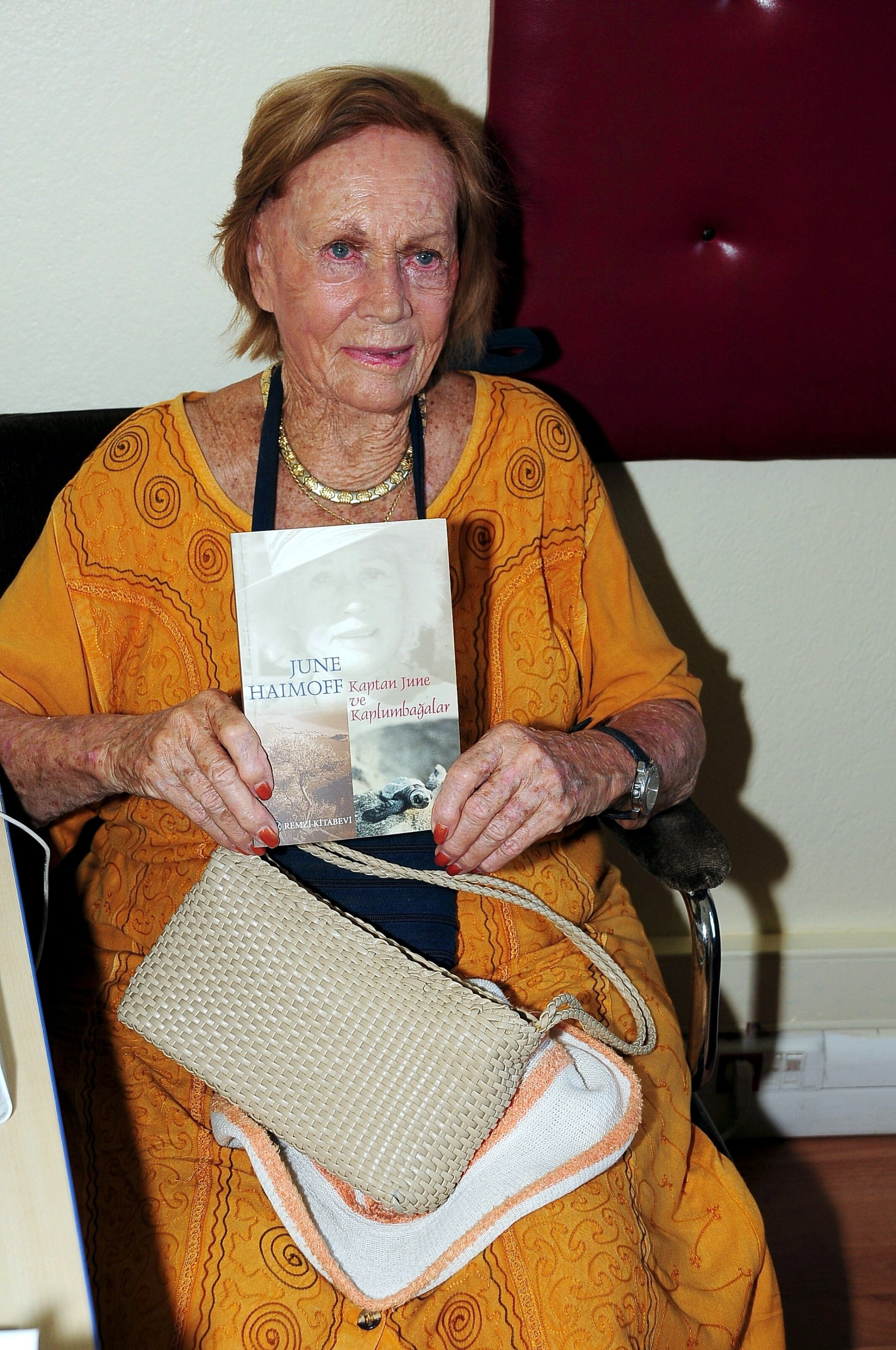 Nicknamed captain, June Haimoff became a Turkish citizen at age 86. (File Photo)