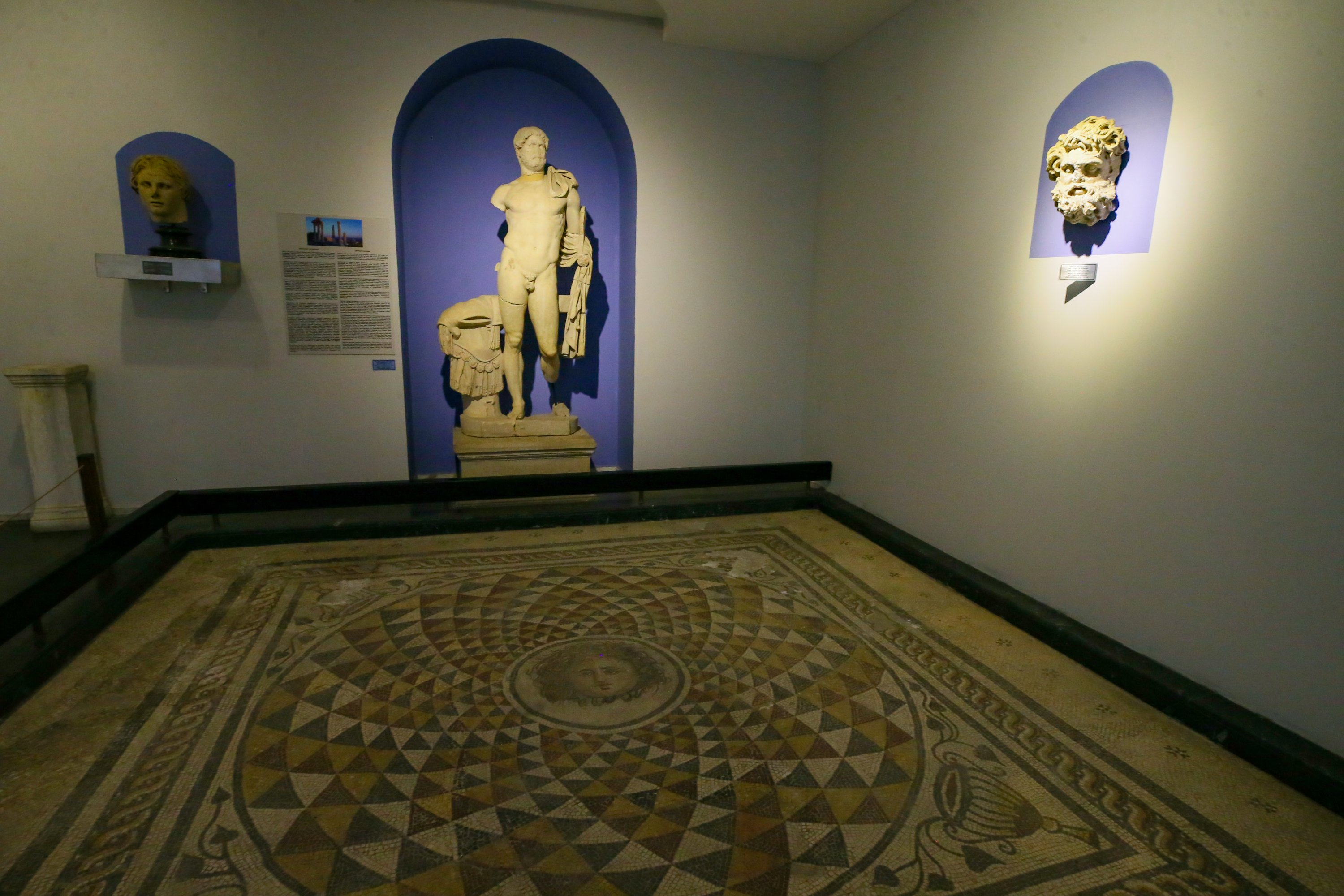 The artifacts unearthed in the ancient city are put on display at the Pergamon Museum. (AA PHOTO)