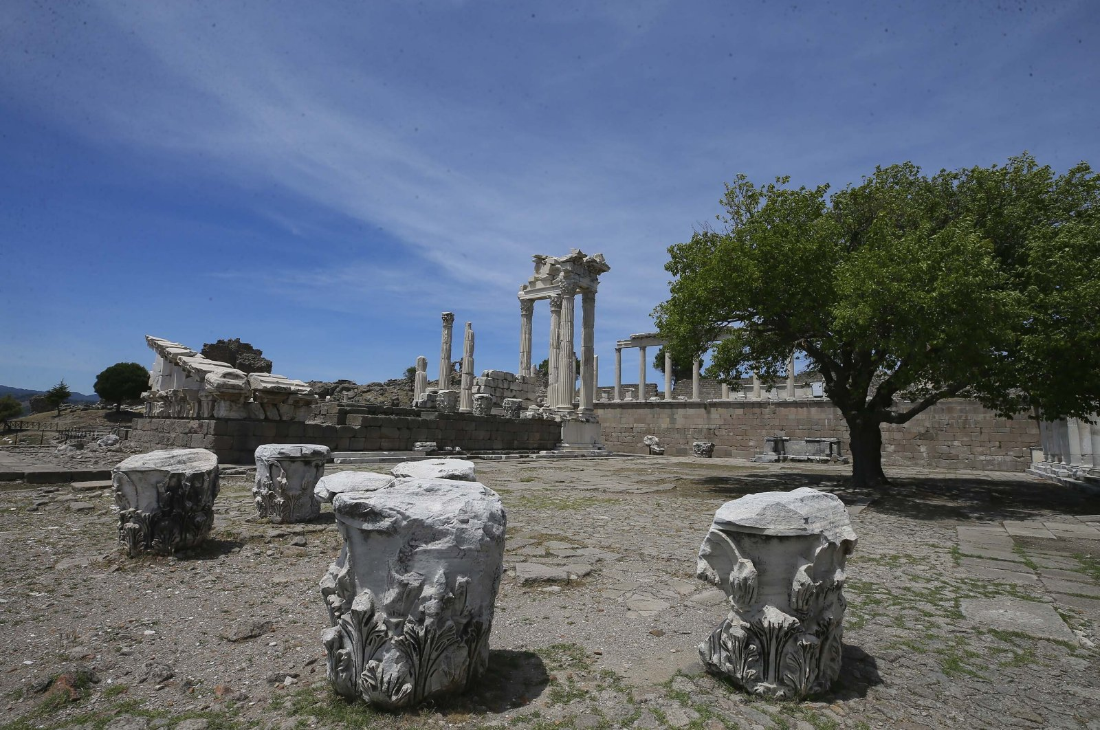 A general view from the ancient city of Pergamon, Izmir, western Turkey, June 28, 2020. (AA PHOTO)