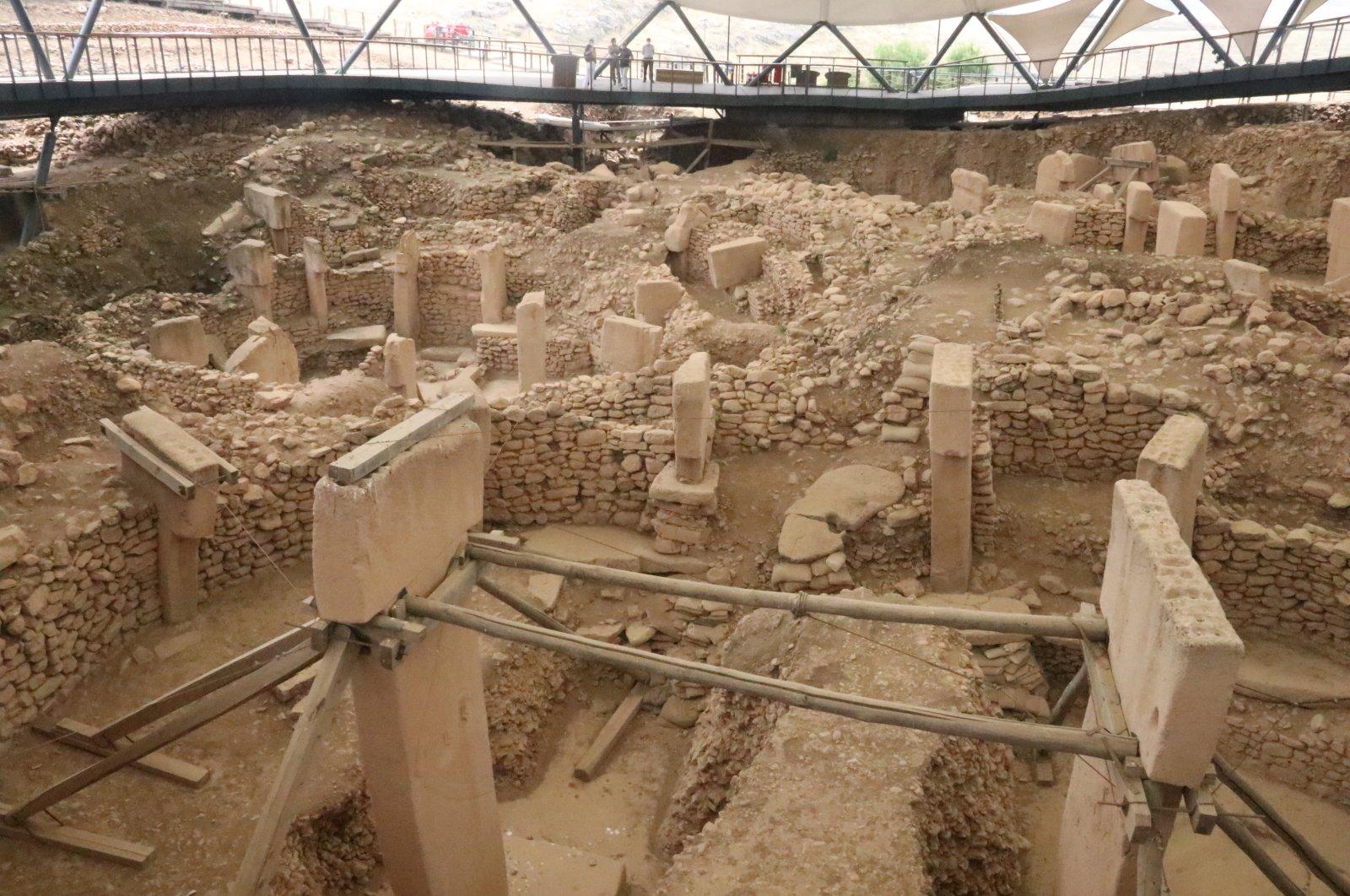 A view from the Göbeklitepe archaeological site in Şanlıurfa, southeastern Turkey, July 1, 2020. ( AA PHOTO)