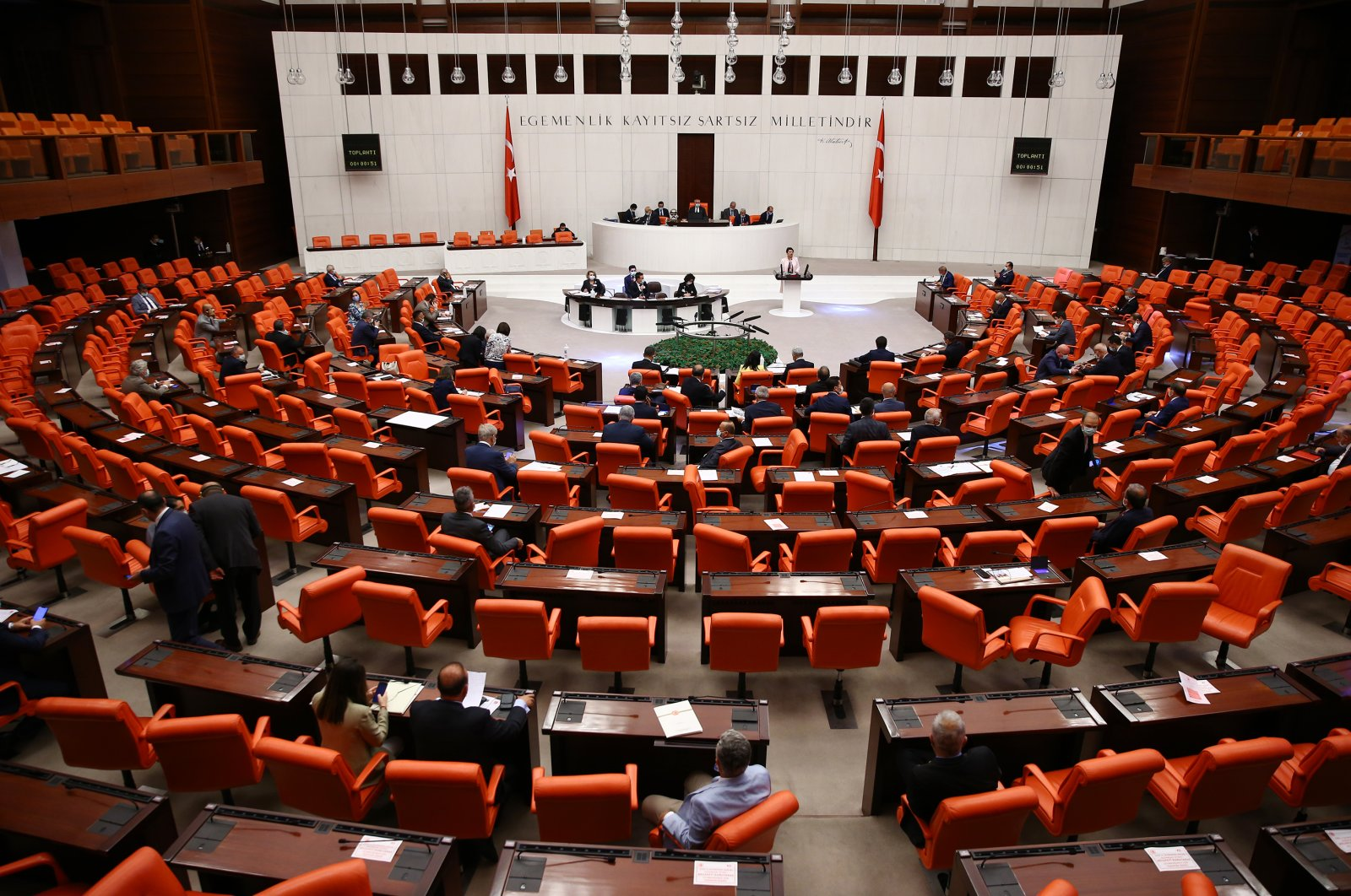 The General Assembly of the Grand National Assembly of Turkey on July 1, 2020 (AA Photo)