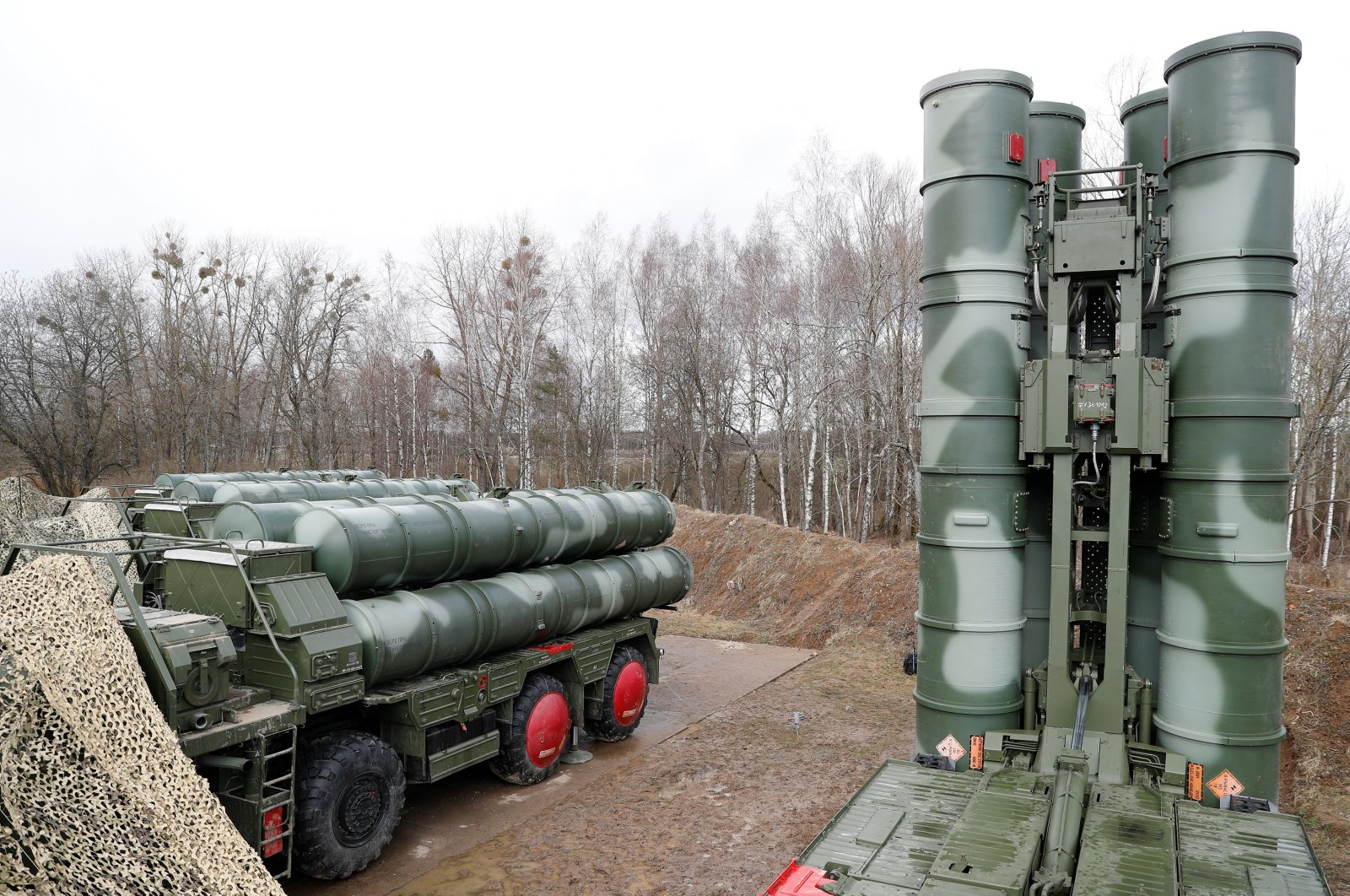 """A view shows S-400 """"Triumph"""" surface-to-air missile system after its deployment near Kaliningrad, Russia, March 11, 2019. (Reuters Photo)"""