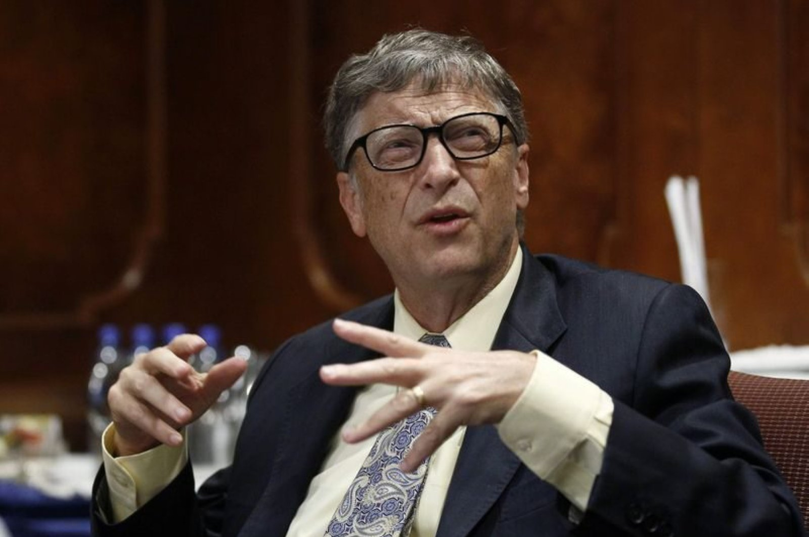 Microsoft technology advisor Bill Gates speaks in a news conference in Ethiopia's capital Addis Ababa July 24, 2014. (Reuters Photo)