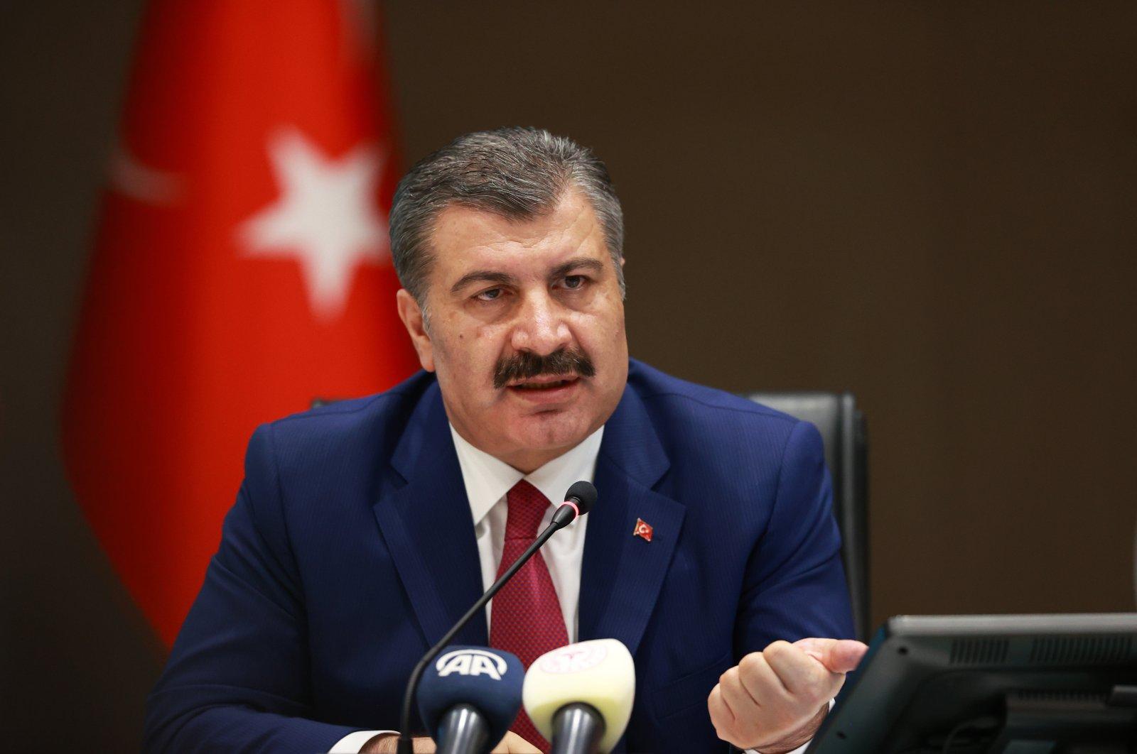 Health Minister Fahrettin Koca.