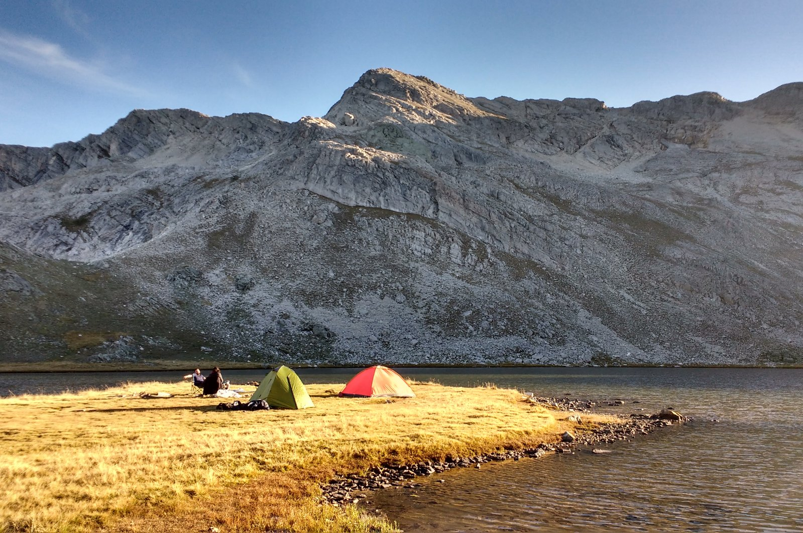 Campers pitch their tents beside Aynalı Göl near the summit of Mount Uludağ, Bursa, Turkey. (Gabriela Akpaça / Daily Sabah)