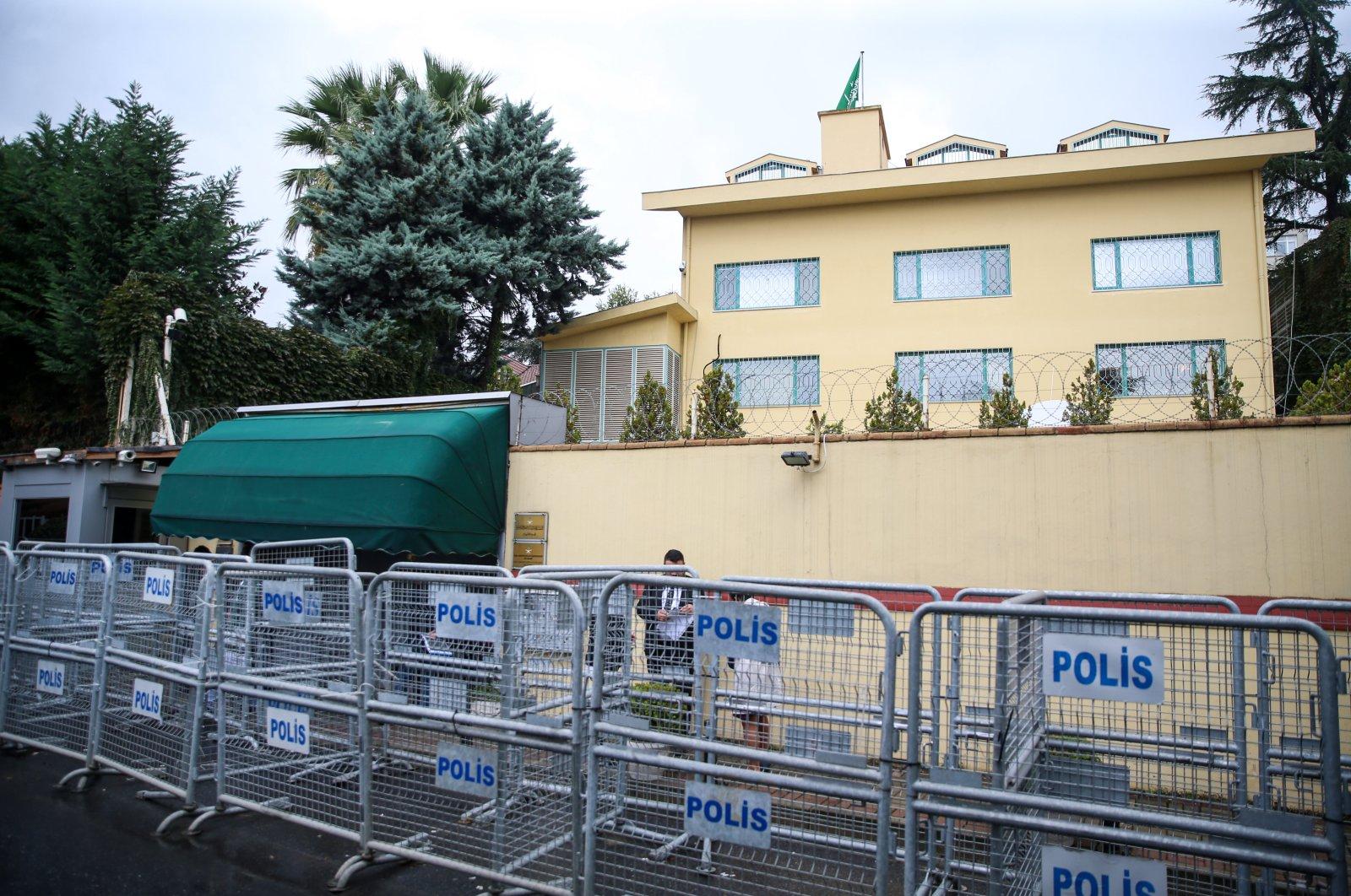 The Saudi Consulate General building, where Jamal Khashoggi was killed in Istanbul, Turkey, Oct. 2, 2019. (AA File Photo)