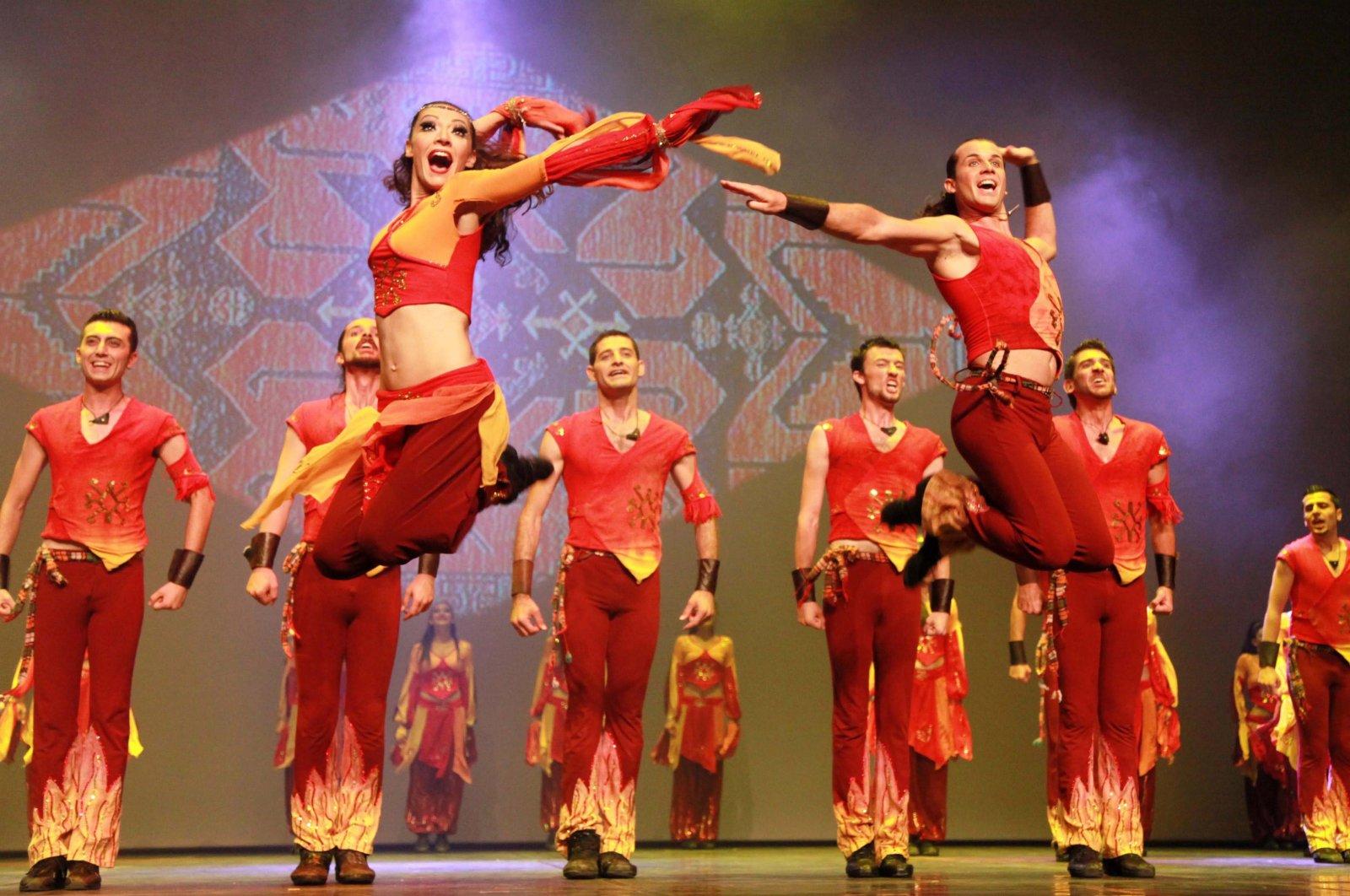 A photo from Fire of Anatolia's performance at Expo 2012 Yeosu Korea in Yeosu, South Korea, June 6, 2012. ( AA Photo)