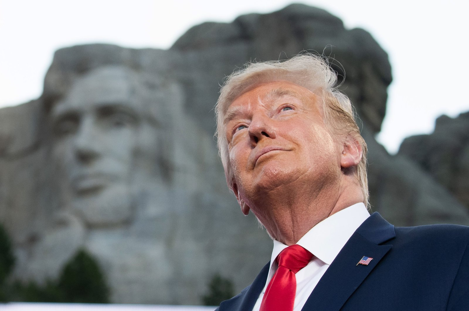 US President Donald Trump arrives for the Independence Day events at Mount Rushmore National Memorial in Keystone, South Dakota, July 3, 2020. (AFP Photo)
