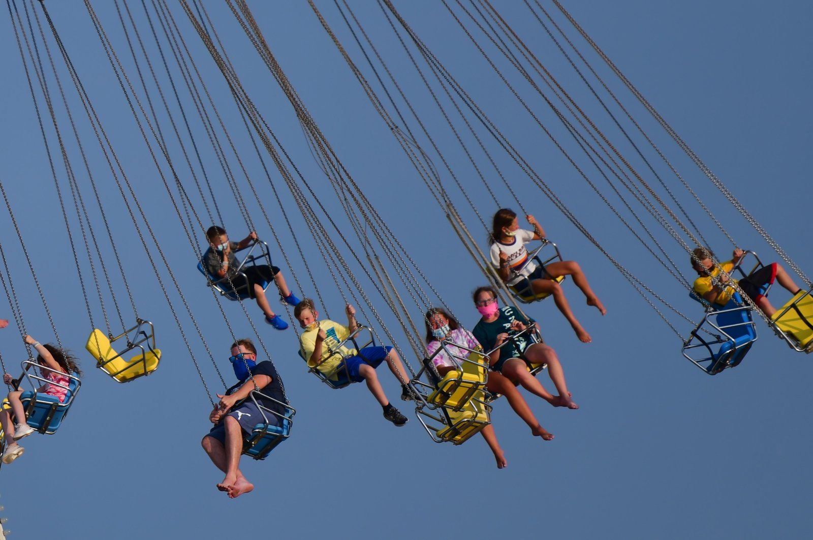 Americans begin to celebrate the fourth of July holiday weekend on July 3, 2020, in Wildwood, New Jersey. (AFP Photo)