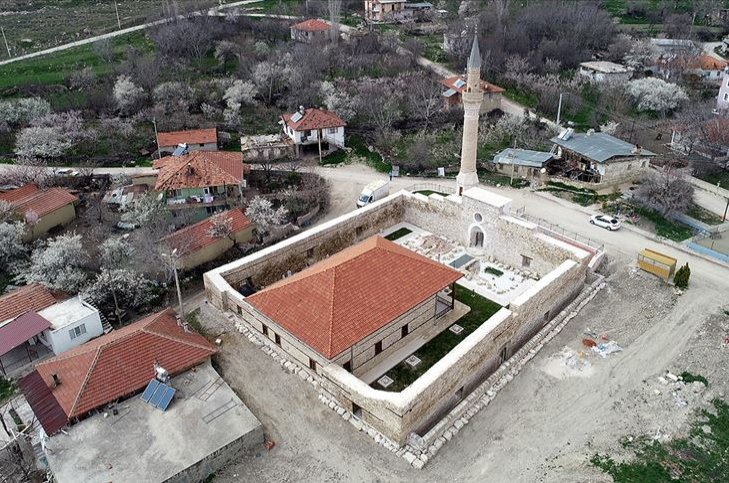 An aerial view from the Alaaddin Mosque, which bears the traces of the Seljuk era stonemasonry. (AA Photo)