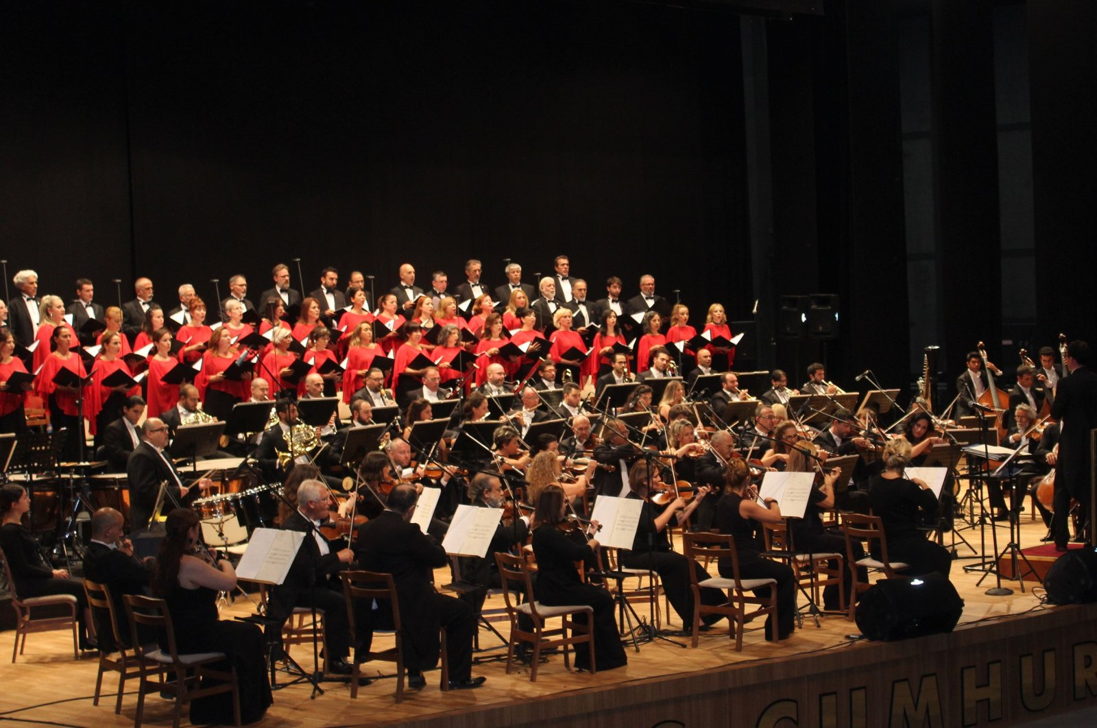 The Presidential Symphony Orchestra performs in Sivas, Tukey, Sept. 17, 2019. (DHA PHOTO)