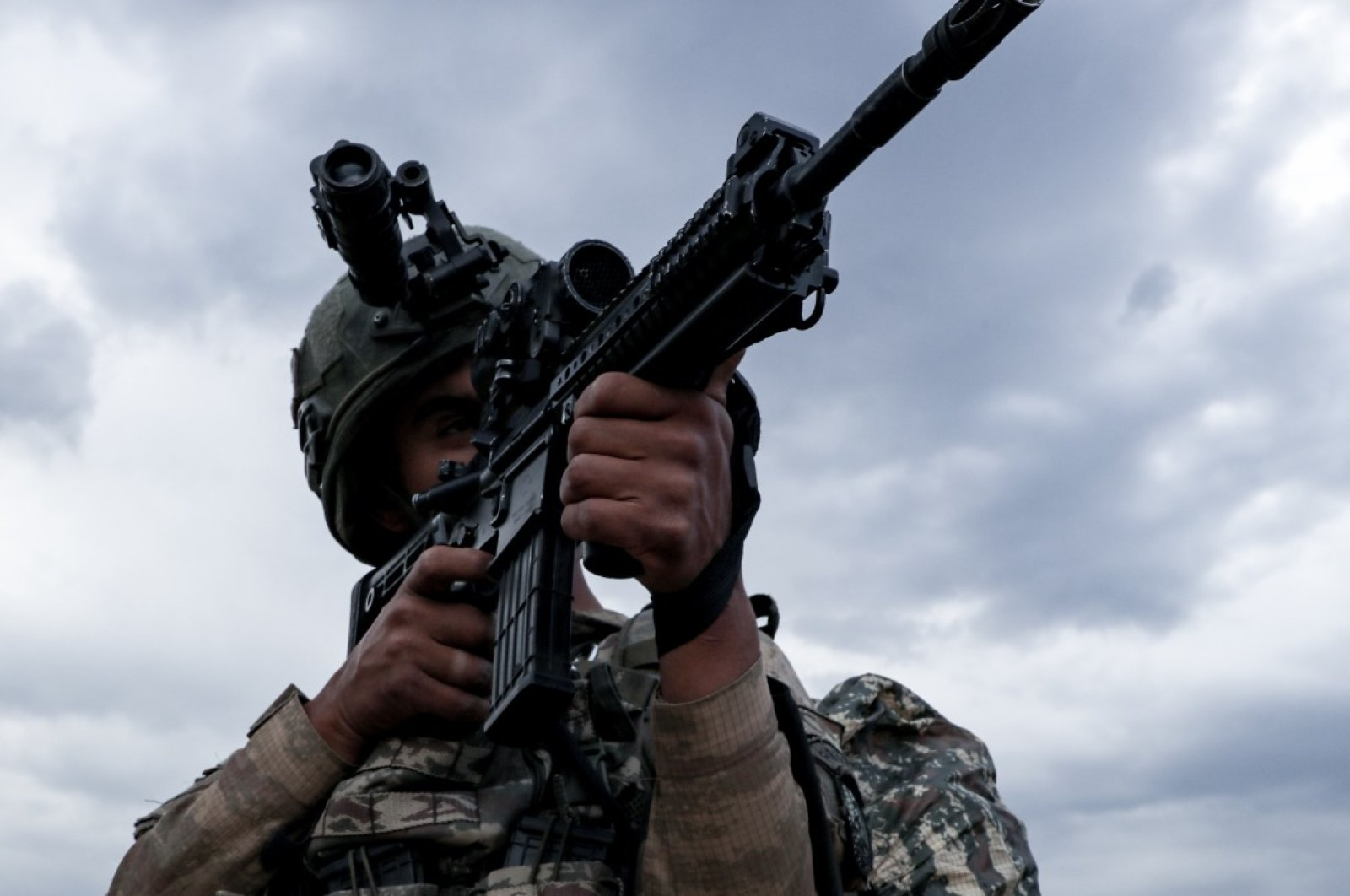 A Turkish soldier is pictured during the cross-border Operation Claw-Tiger in northern Iraq, July 4, 2020. (AA Photo)