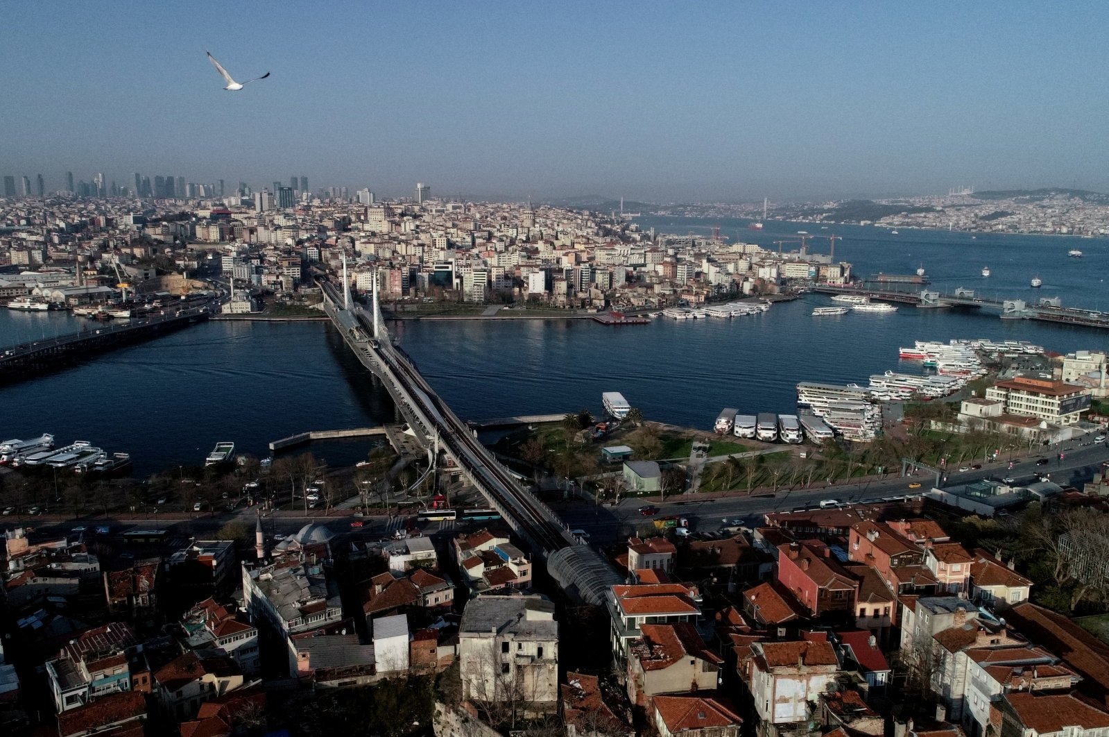 An aerial view of Istanbul during the coronavirus outbreak, March 30, 2020. (Reuters Photo)