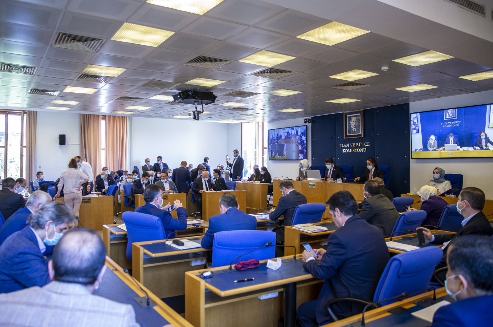 """Turkish Parliament's Justice Commission discusses the """"Law Proposal to Make Amendments on the Legal Practitioners' Act and Other Acts"""" in Ankara, Turkey, July 5, 2020. (AA Photo)"""
