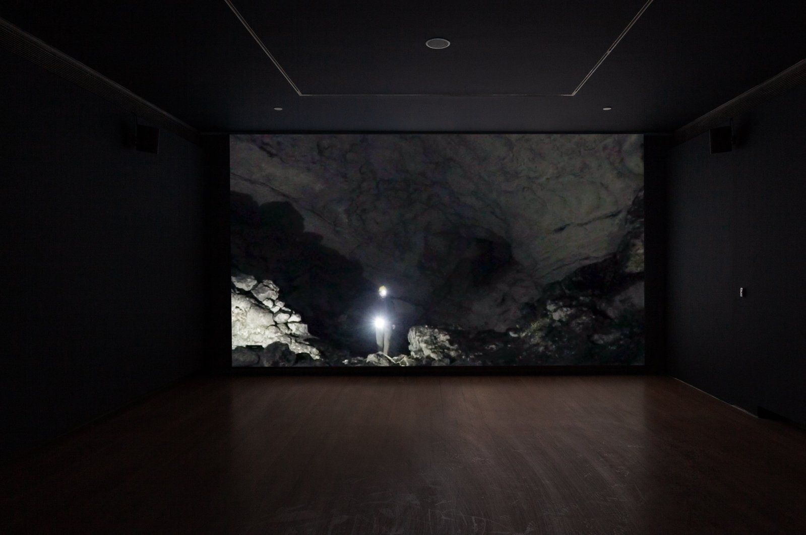 "A still from ""Double Mouthed: Yarımburgaz Cave"" (2019) by Phillip Zach."