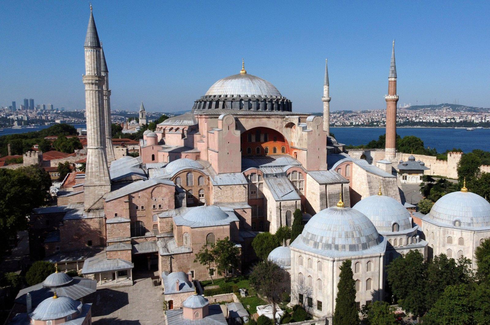 Hagia Sophia, a UNESCO World Heritage Site, is seen in Istanbul, Turkey, June 28, 2020. (Reuters Photo)