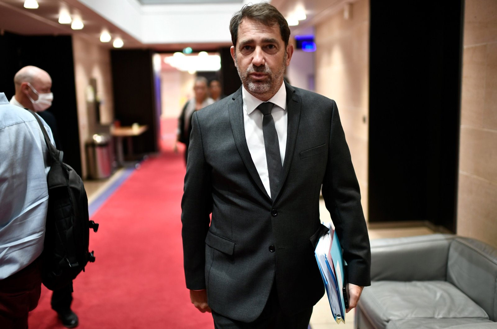 Former French Interior Minister Christophe Castaner arrives for a hearing by the Assembly's committee of inquiry on the independence of the judiciary power in France, at the French National Assembly, in Paris, July 2, 2020. (AFP Photo)