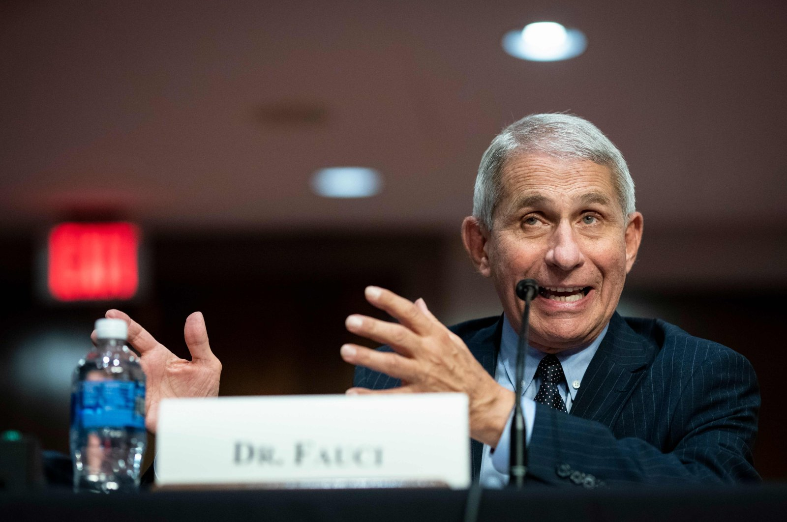 Anthony Fauci, director of the National Institute of Allergy and Infectious Diseases, speaks during a Senate Health, Education, Labor and Pensions Committee hearing in Washington, D.C., June 30, 2020. (AFP Photo)