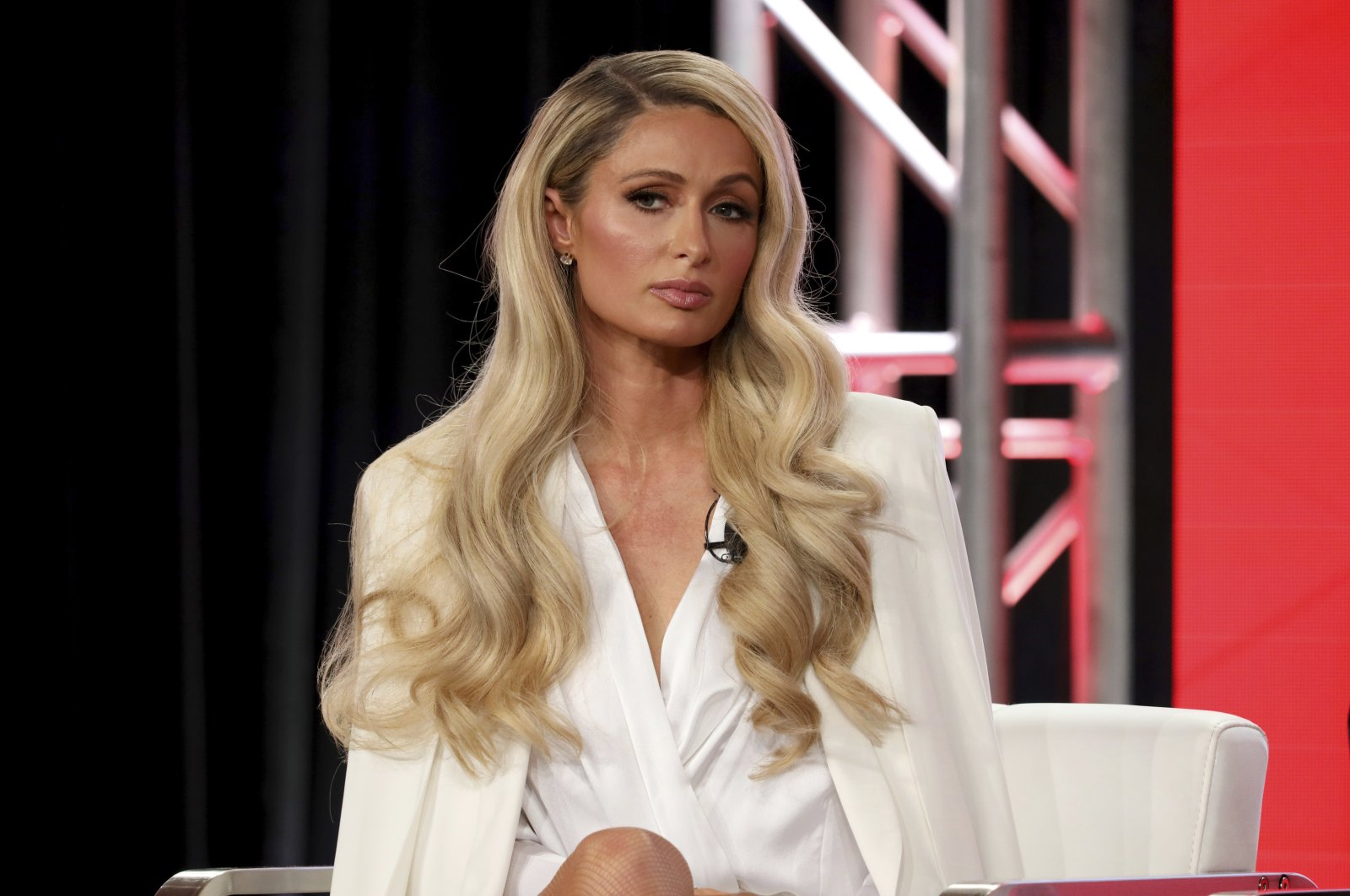 "Paris Hilton speaks at the ""Untitled Paris Hilton Documentary"" panel during the YouTube TCA 2020 Winter Press Tour at the Langham Huntington, Saturday, Jan. 18, 2020, in Pasadena, Calif. (AP Photo)"