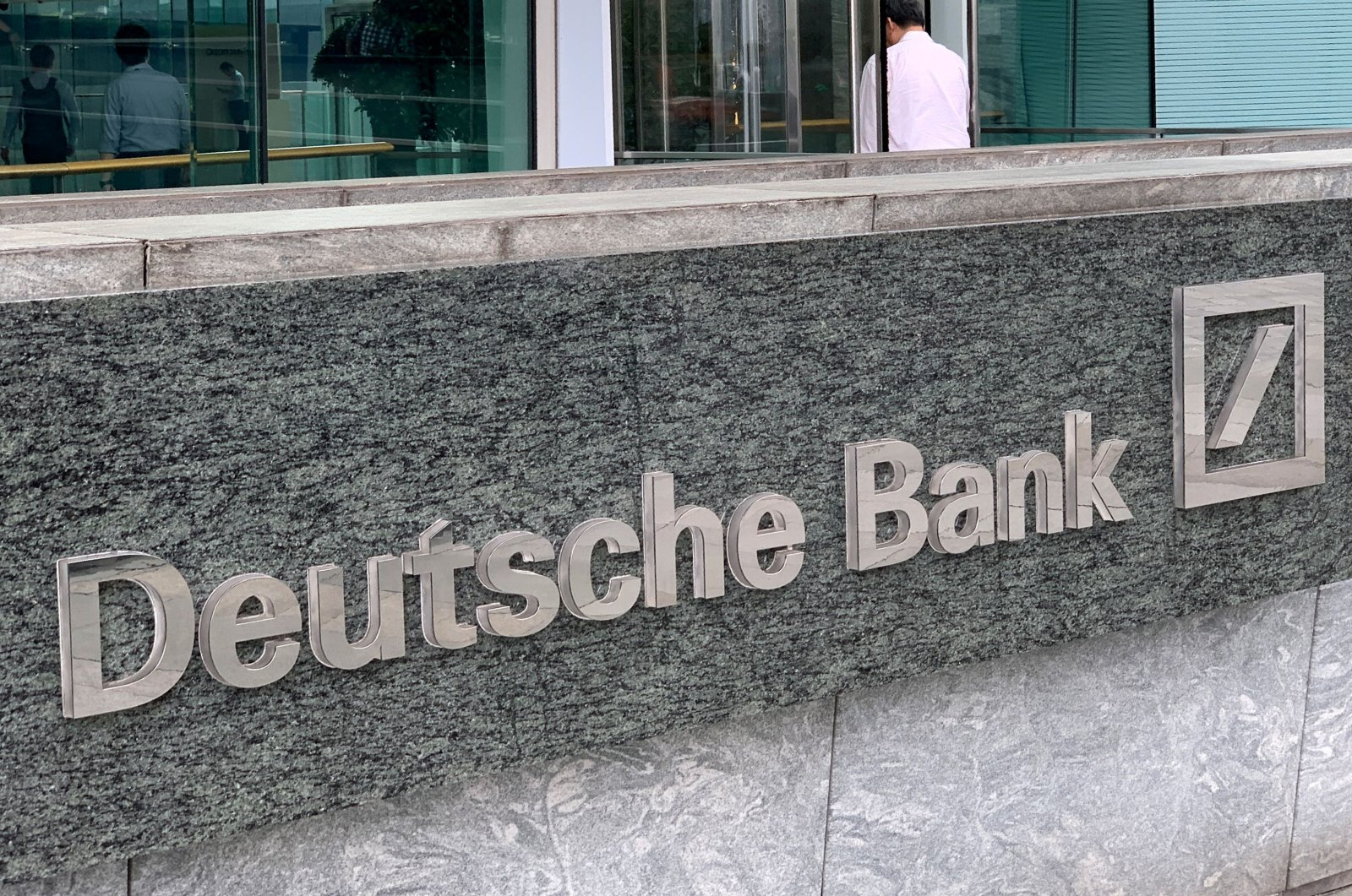 The logo of Deutsche bank is seen in Hong Kong, China on July 8, 2019. (Reuters Photo)