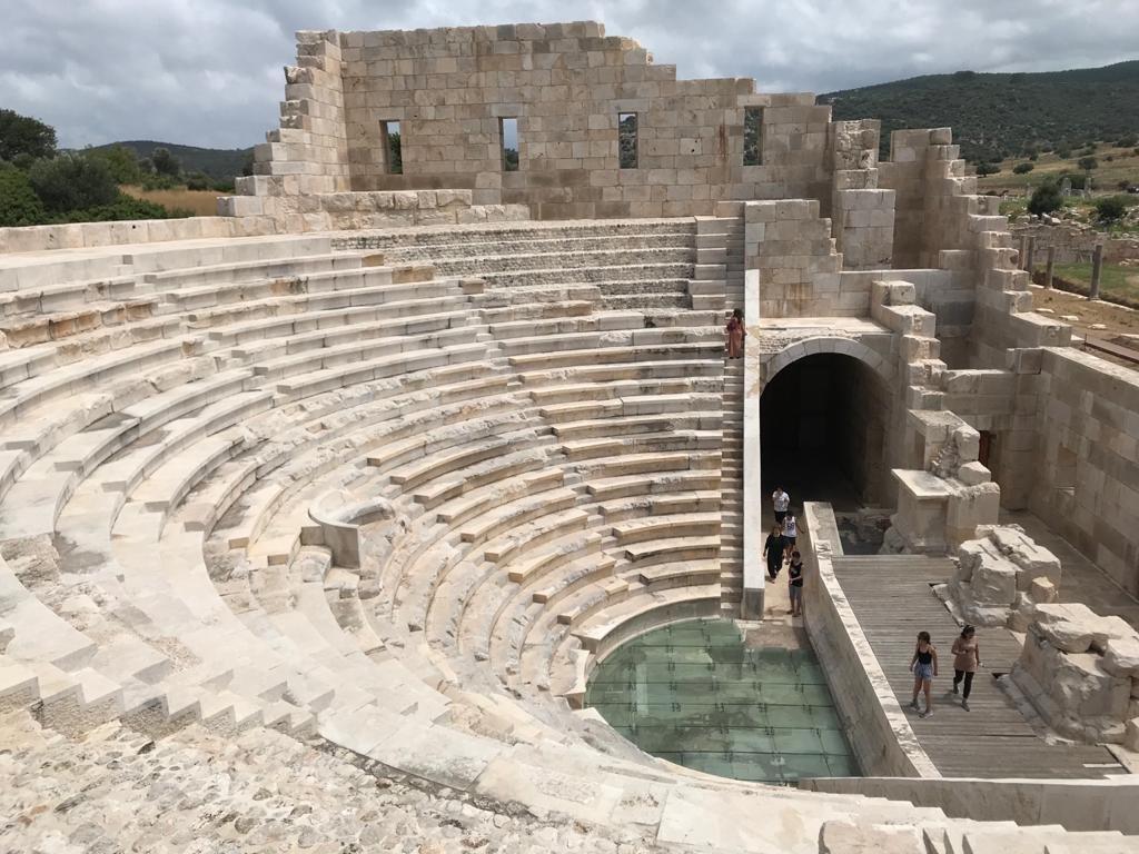 The ancient theater in Patara in Antalya, Turkey, July 6, 2020. (AA Photo)