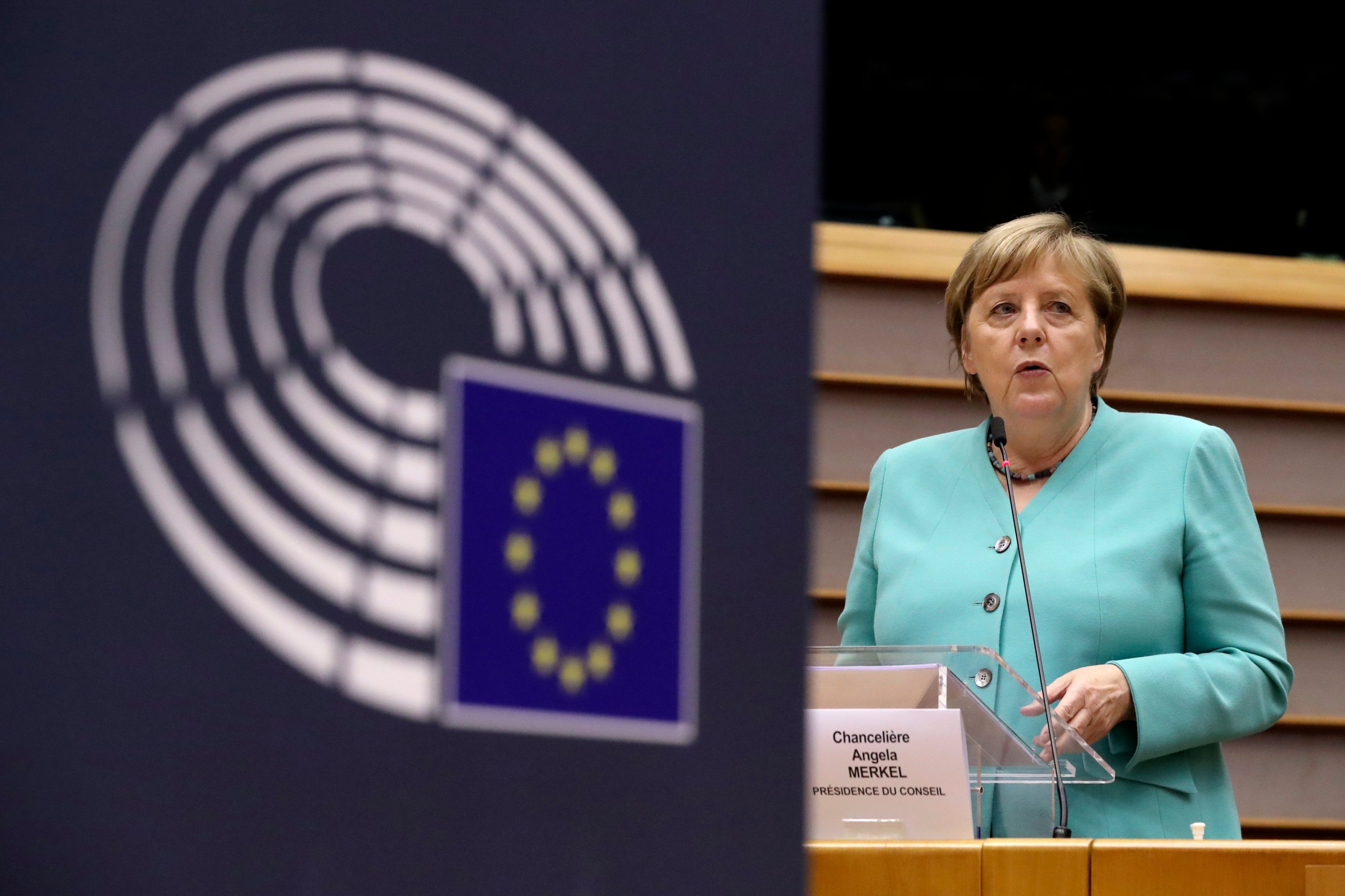 Germany S Merkel Calls On Eu Countries To Show Solidarity For Virus Package Daily Sabah