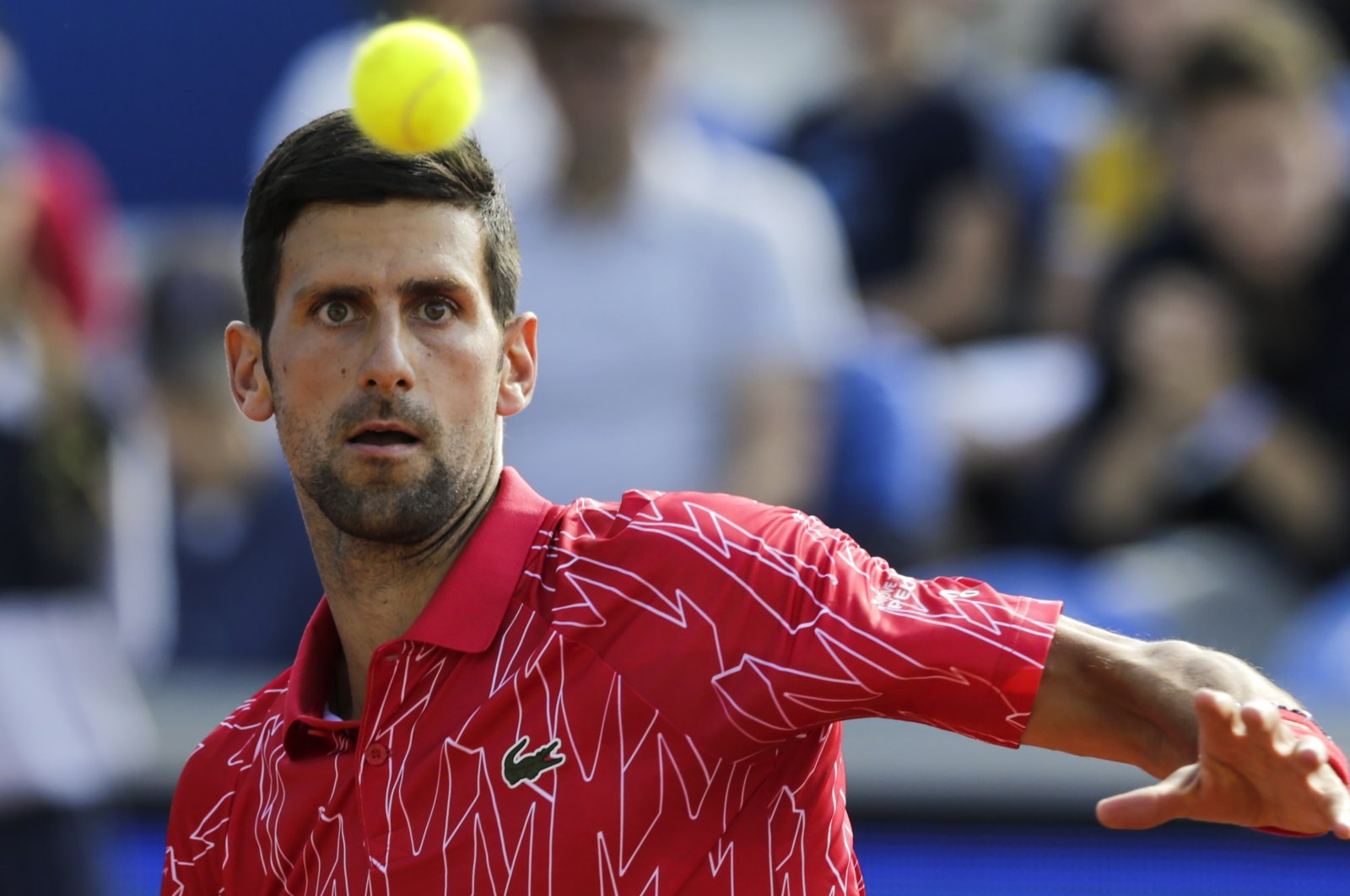 Novak Djokovic in action during the Adria Tour tennis tournament in Belgrade, Serbia, June 13, 2020. (EPA Photo)