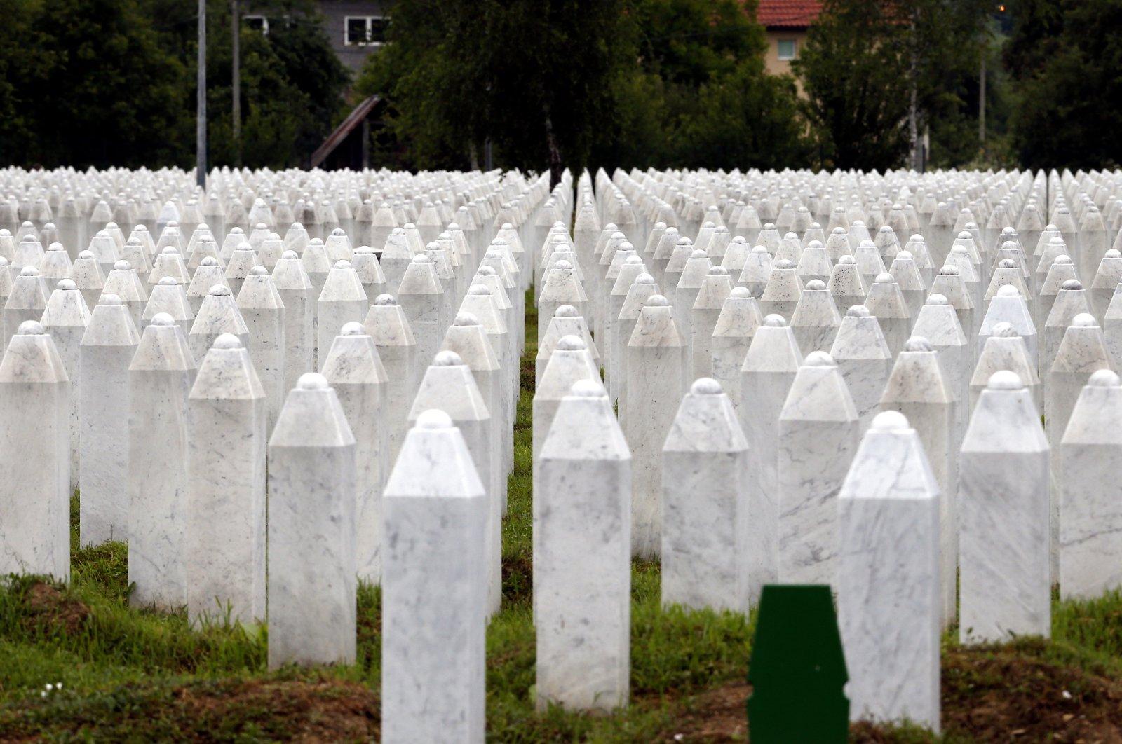 General view at Potocari Memorial Center in Srebrenica, Bosnia and Herzegovina, July 7, 2020. (EPA Photo)