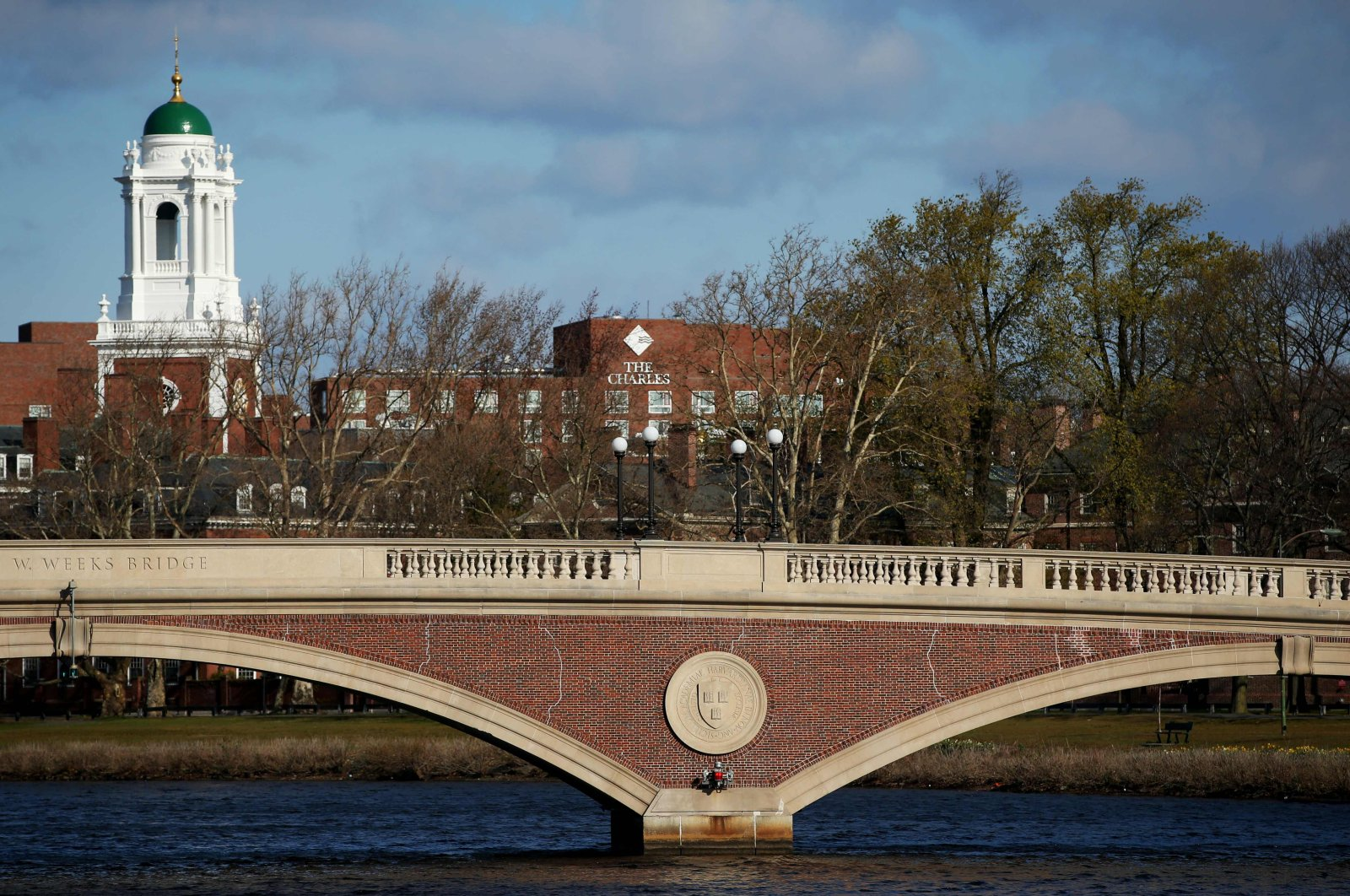 A general view of Harvard University campus in Cambridge, Massachusetts, April 22, 2020. (AFP Photo)