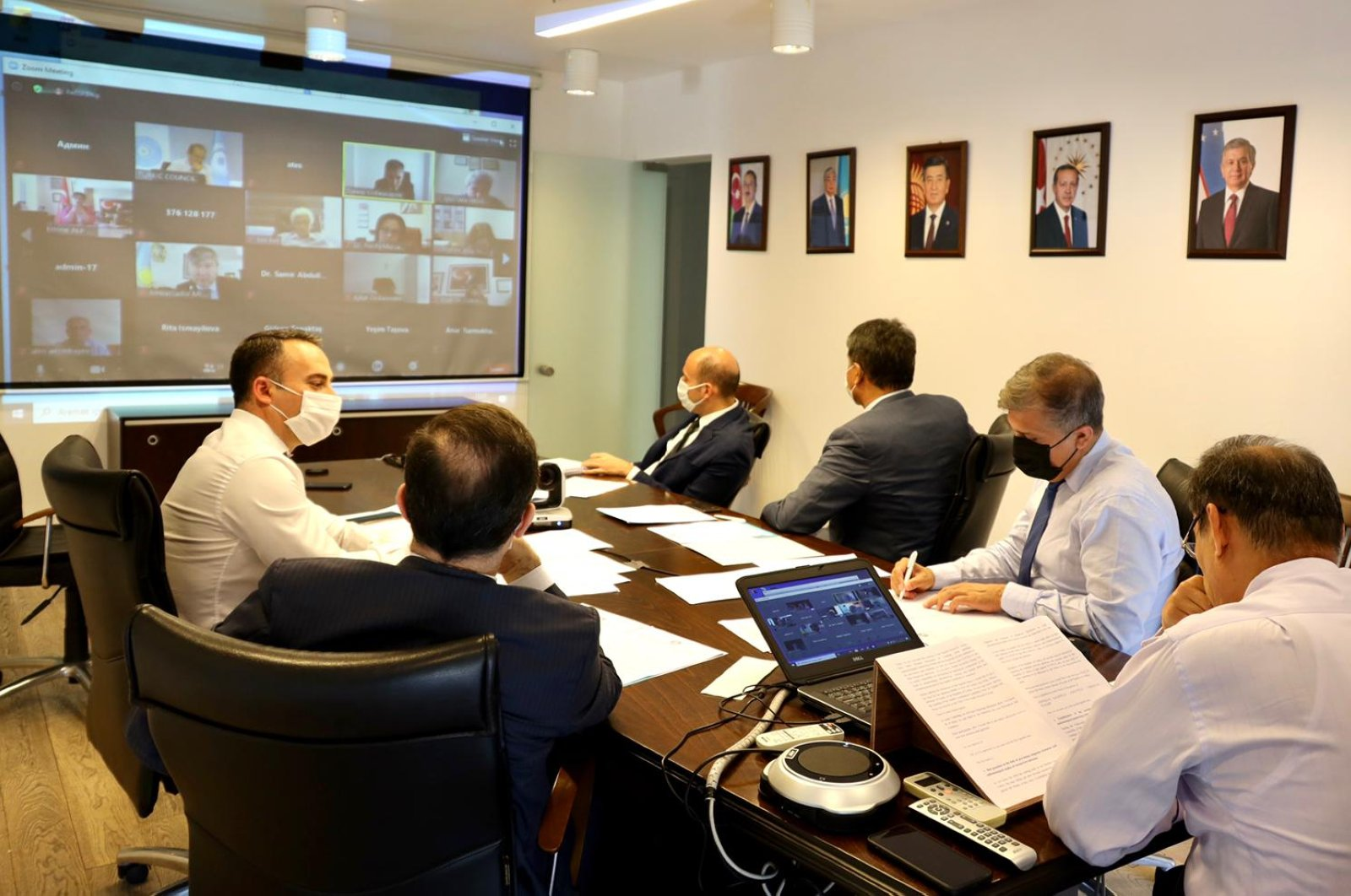 The Turkic Council Health Scientific Group meets for the first time to enhance cooperation against COVID-19 pandemic, July, 8, 2020.