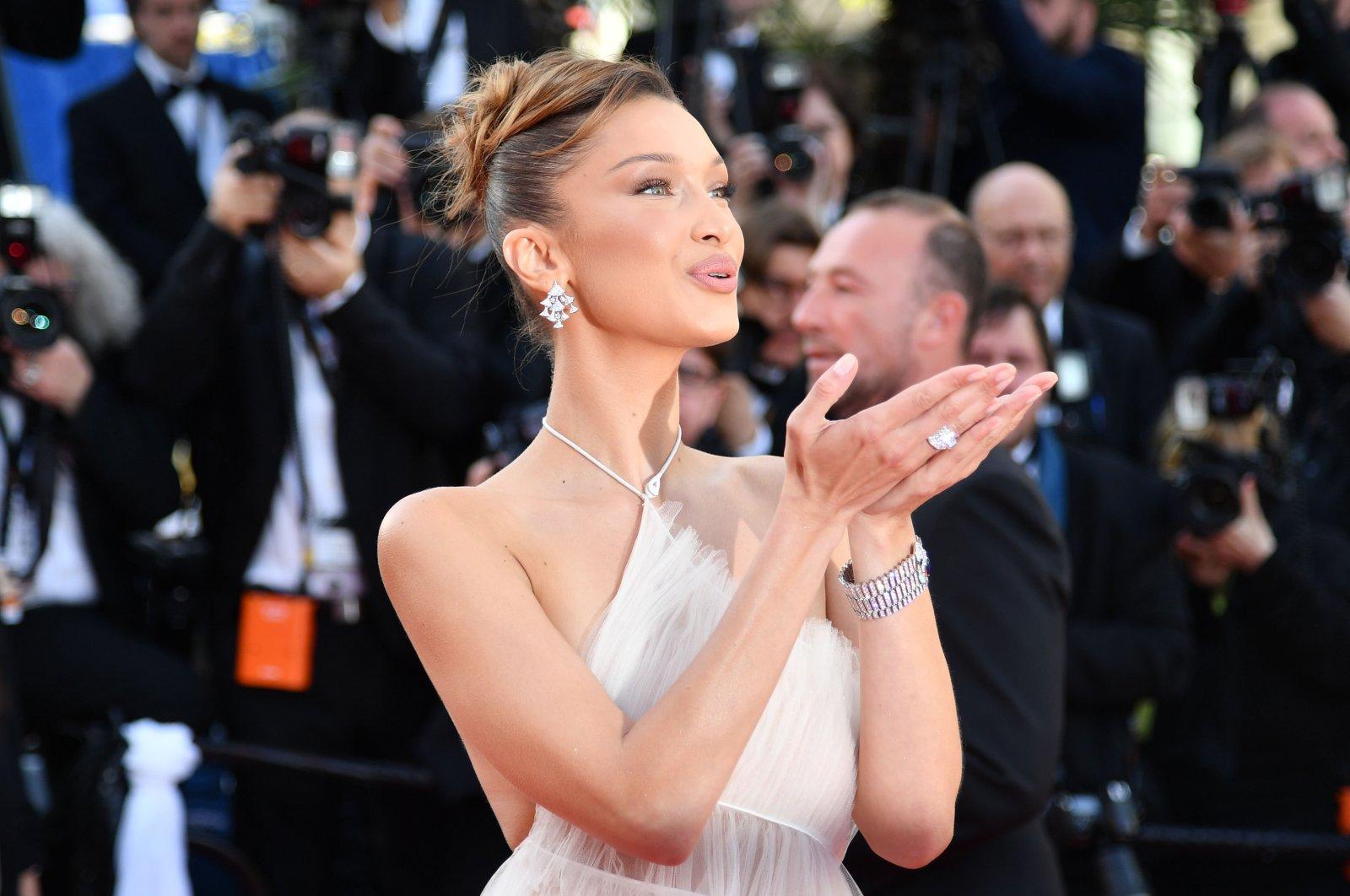 U.S. model Bella Hadid at Cannes Film Festival. (AFP Photo)