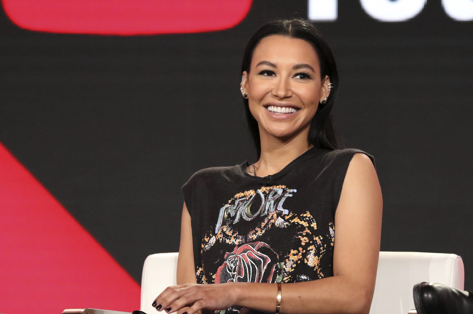 "Naya Rivera participates in the ""Step Up: High Water"" panel during the YouTube Television Critics Association Winter Press Tour in Pasadena, California, U.S., Jan. 13, 2018. (AP Photo)"