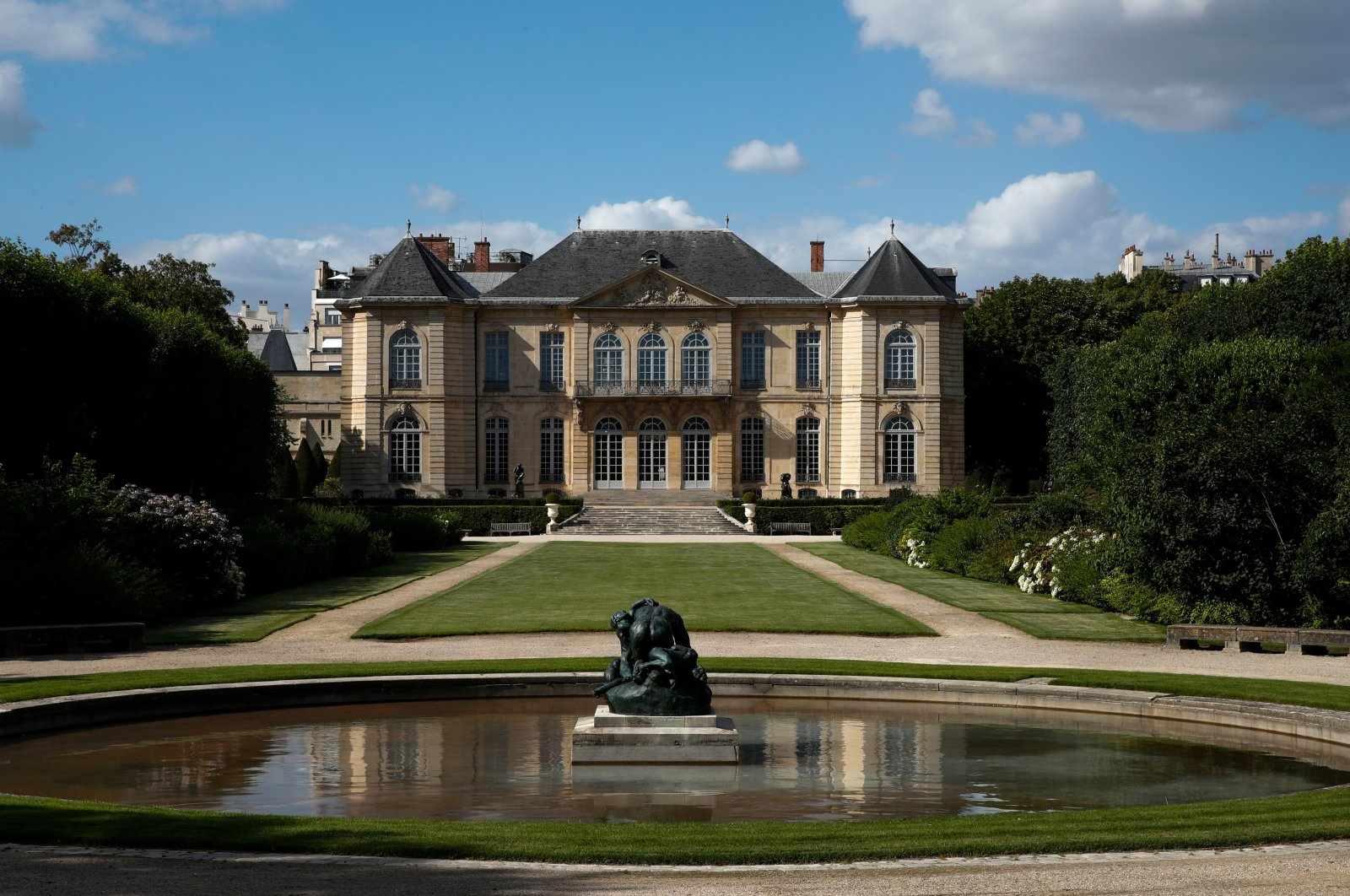 A view shows the Rodin Museum on the eve of its reopening after an almost four-month closure due to the coronavirus outbreak, in Paris, France, July 6, 2020. (Reuters)